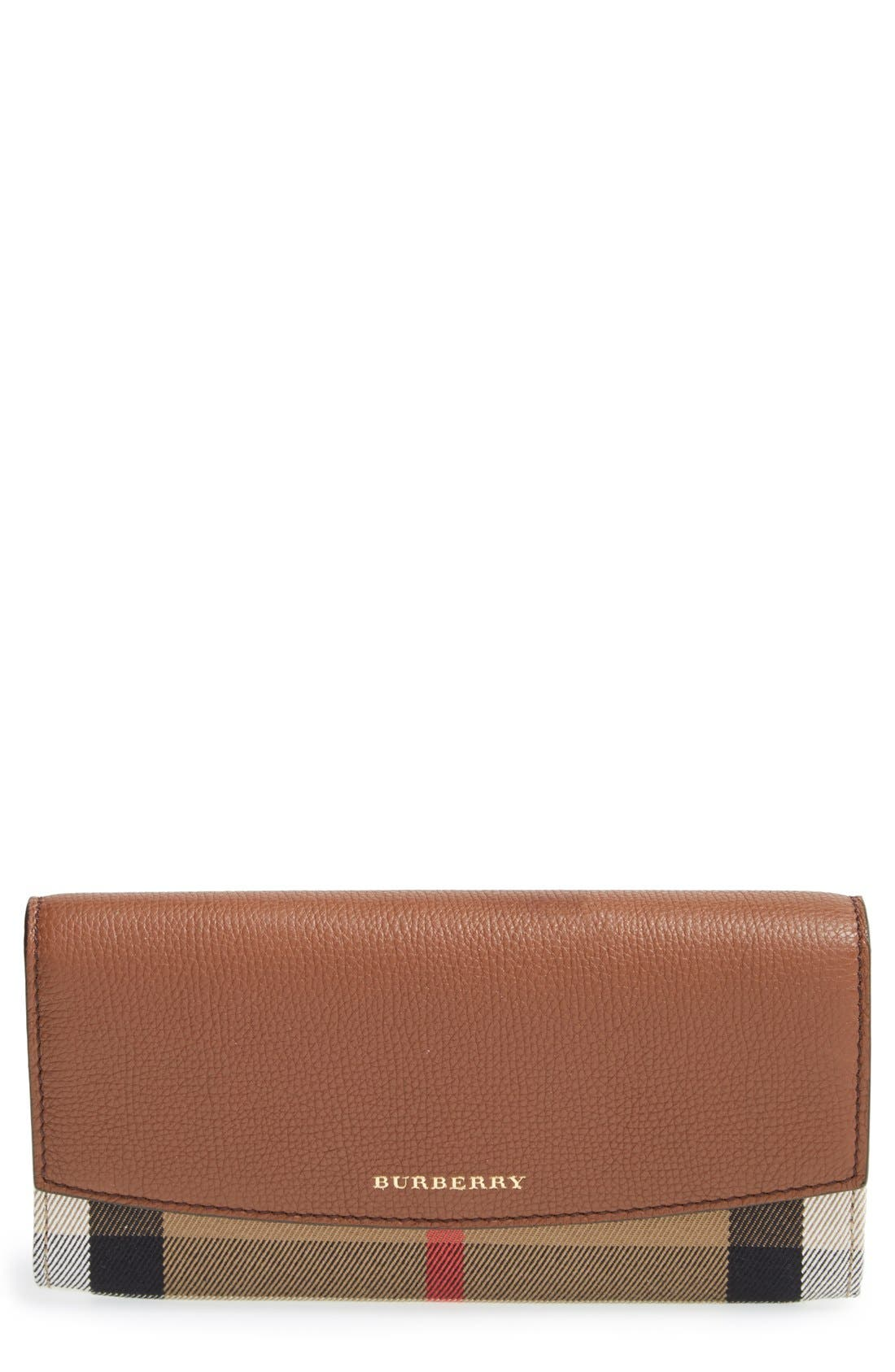 'Porter' Continental Wallet,                         Main,                         color, Tan Gld Hrdwre