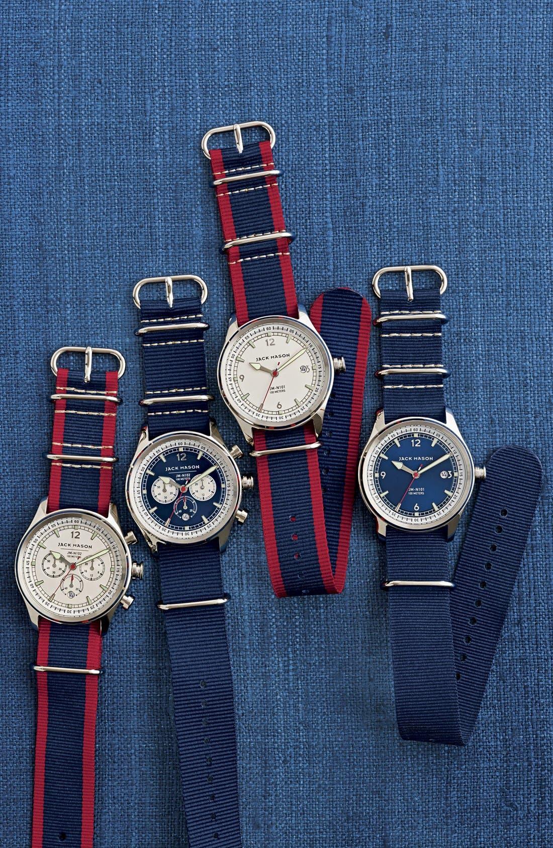 Alternate Image 5  - Jack Mason Nautical Chronograph NATO Strap Watch, 42mm