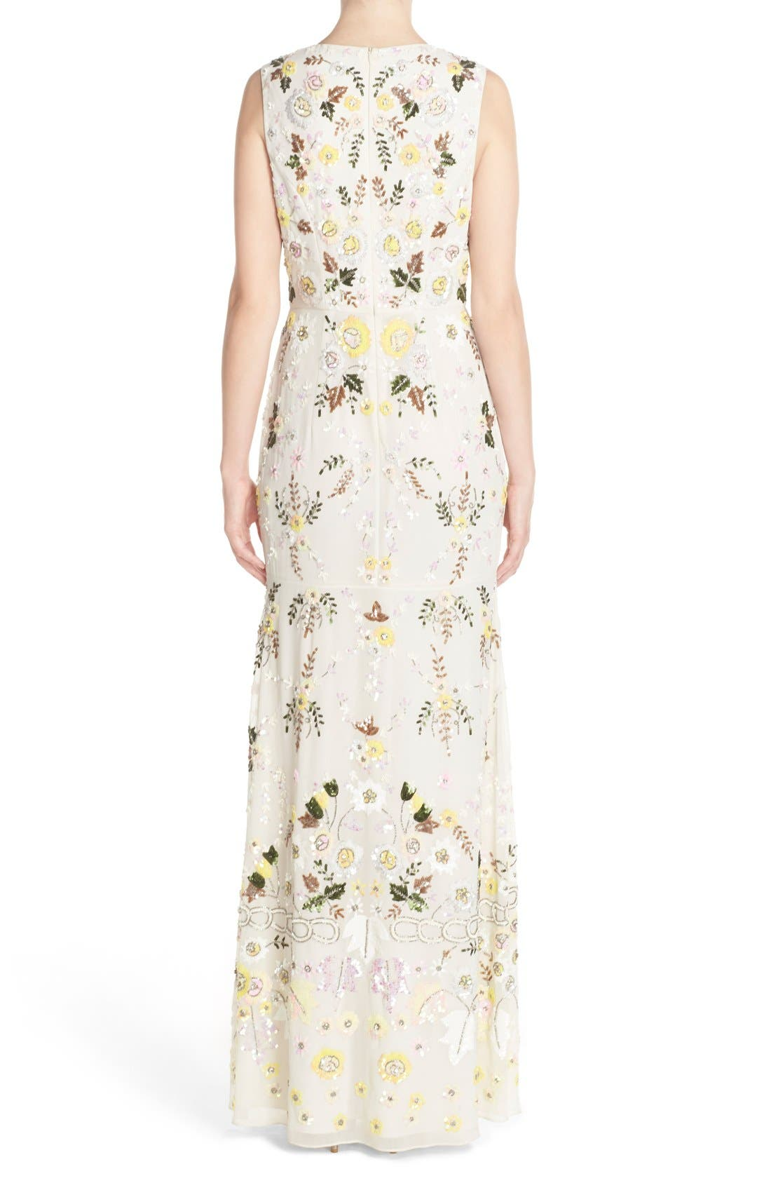 Alternate Image 2  - Needle & Thread 'Sunflower' Embellished Chiffon Mermaid Gown