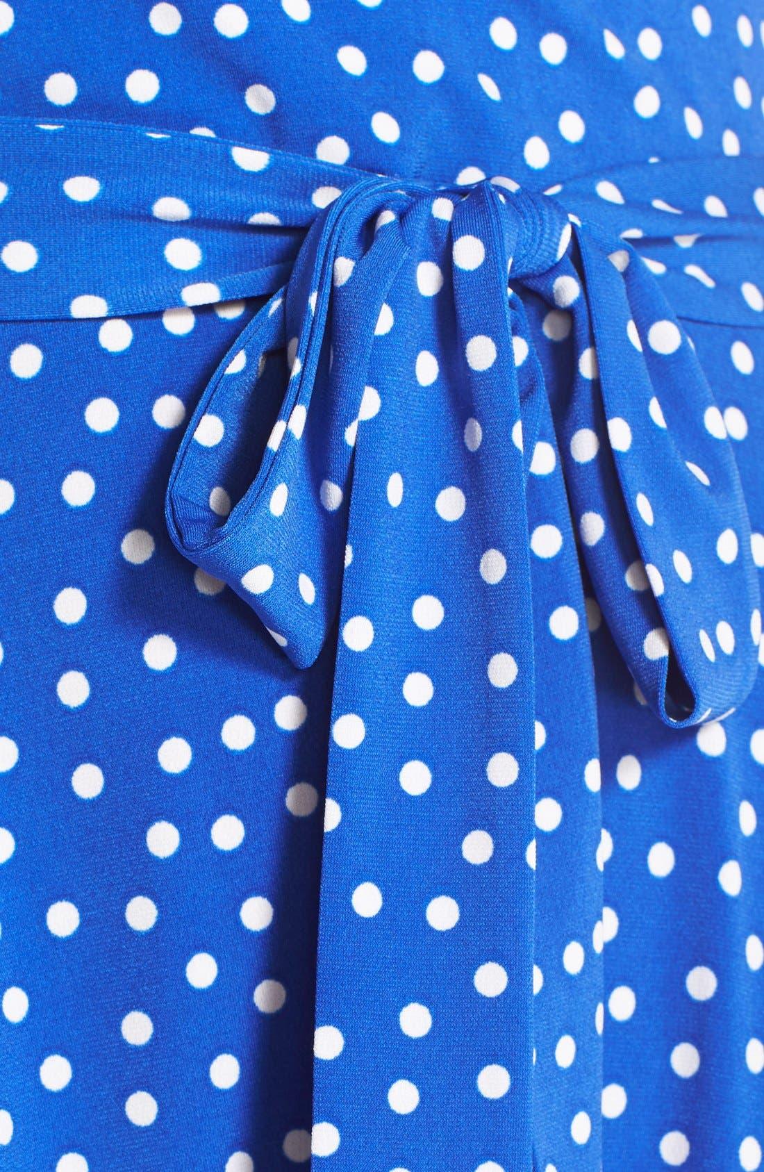 Alternate Image 6  - Leota 'Perfect' Faux Wrap Polka Dot Jersey Dress