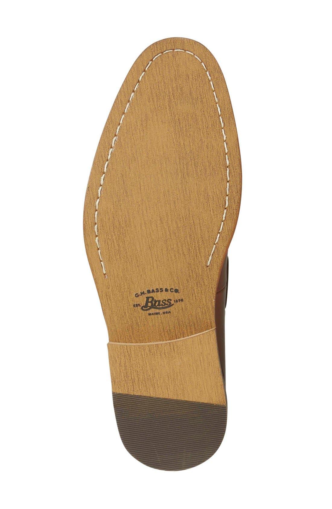 'Cooper' Tassel Loafer,                             Alternate thumbnail 4, color,                             Tan Leather