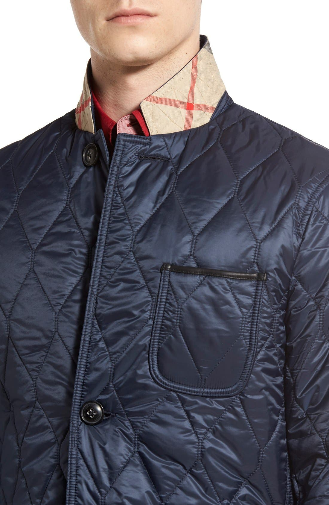 Alternate Image 4  - Burberry Gillington Water Resistant Quilted Jacket