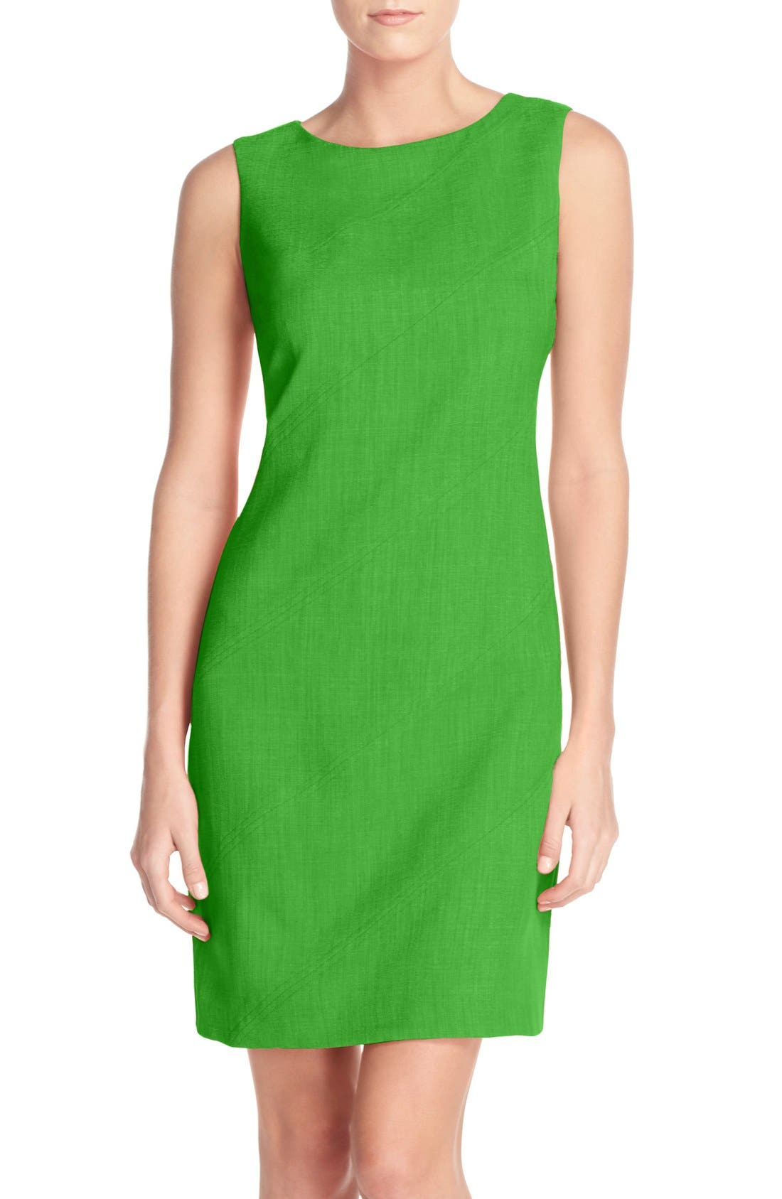 Main Image - Ellen Tracy Seam Sheath Dress (Regular & Petite)