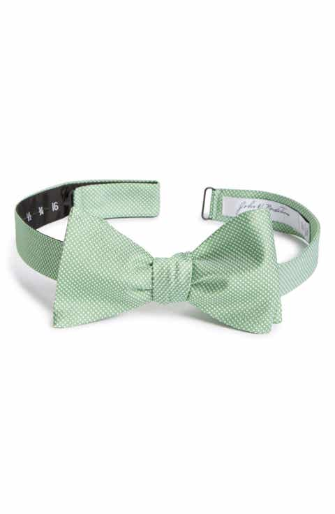 Mens bow ties self tying traditional nordstrom john w nordstrom dot silk bow tie ccuart Images