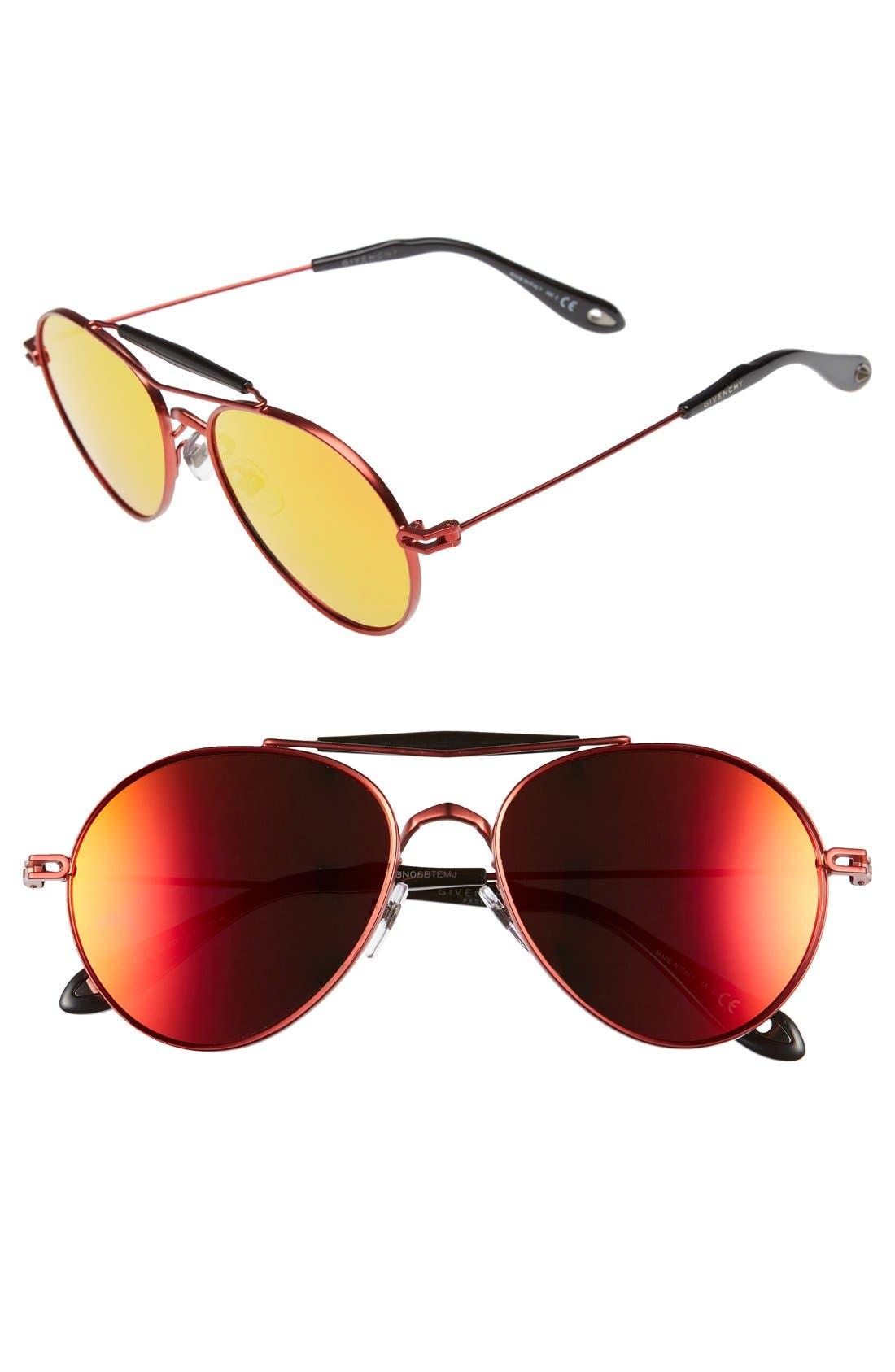 Main Image - Givenchy 56mm Aviator Sunglasses