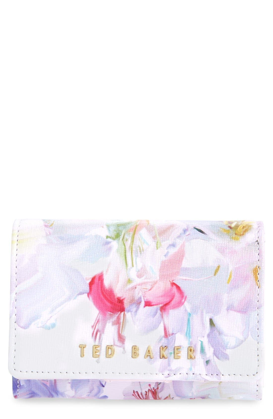 Main Image - Ted Baker London 'Hanging Garden' Floral Print Leather Wallet