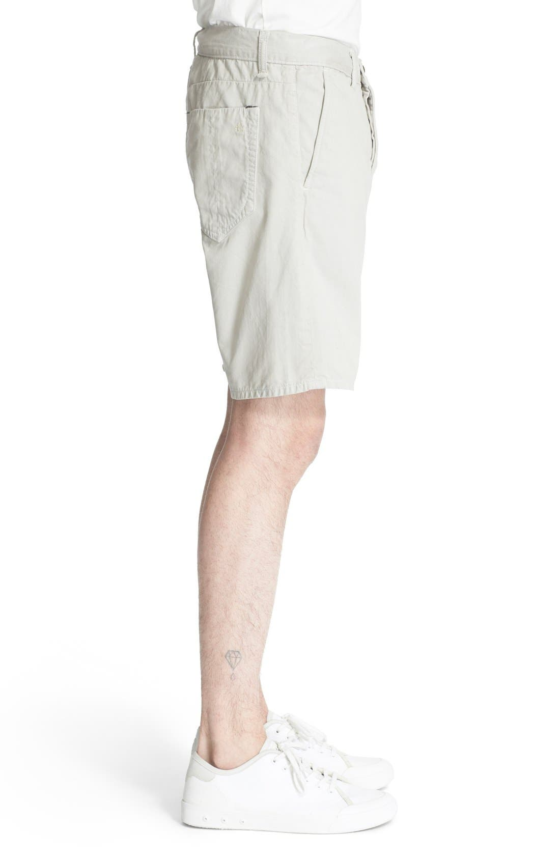 'Standard Issue' Cotton Shorts,                             Alternate thumbnail 3, color,                             Pale Gray