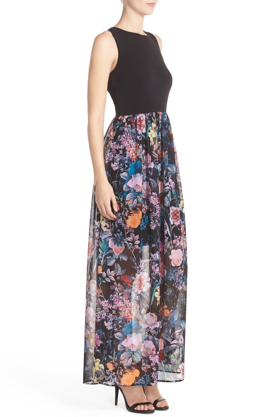 Alternate Image 2  - ECI Jersey & Chiffon Maxi Dress