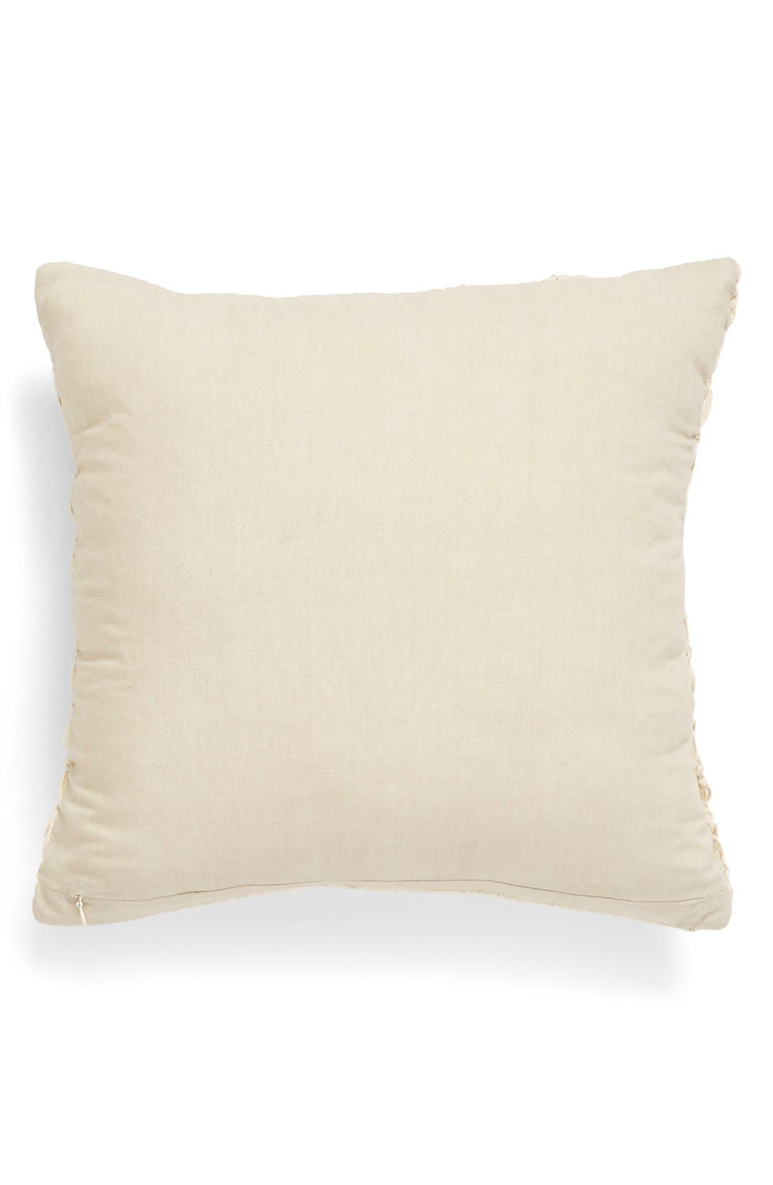 Alternate Image 2  - Nordstrom at Home Macramé Pillow