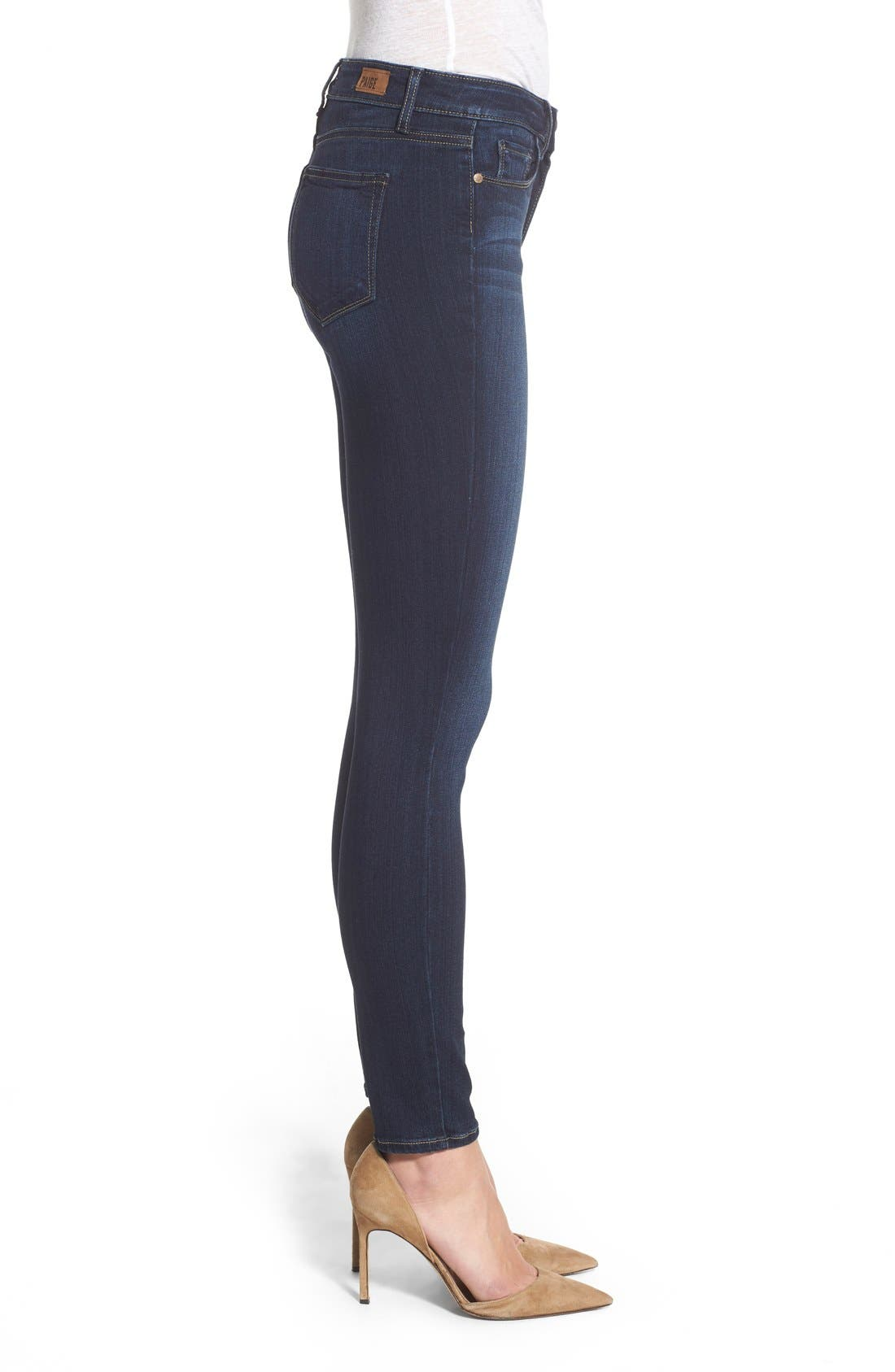 Transcend - Hoxton High Waist Ankle Ultra Skinny Jeans,                             Alternate thumbnail 3, color,                             Hartmann