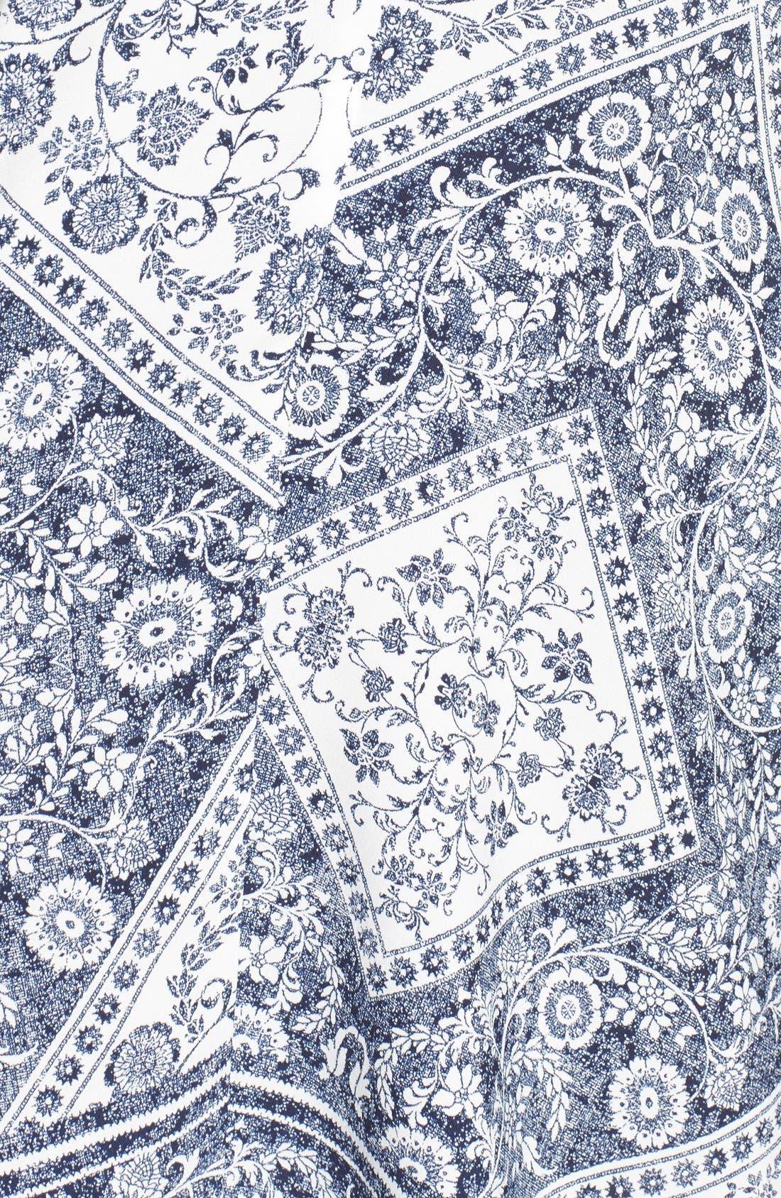 Alternate Image 5  - Trixxi Bandana Print Handkerchief Hem Dress