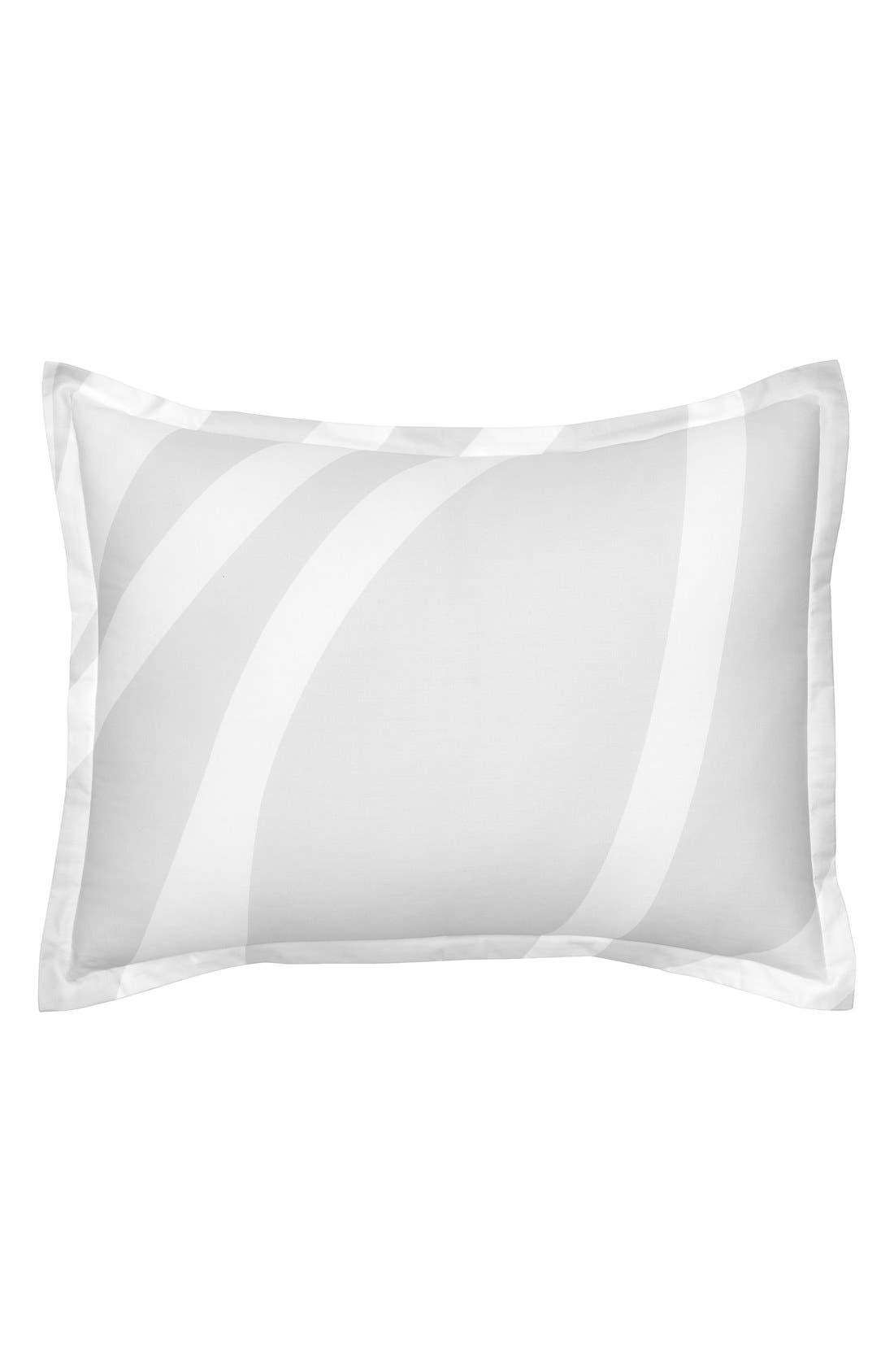 'Groton Swirl' Standard Sham,                         Main,                         color, Pearl/ Grey
