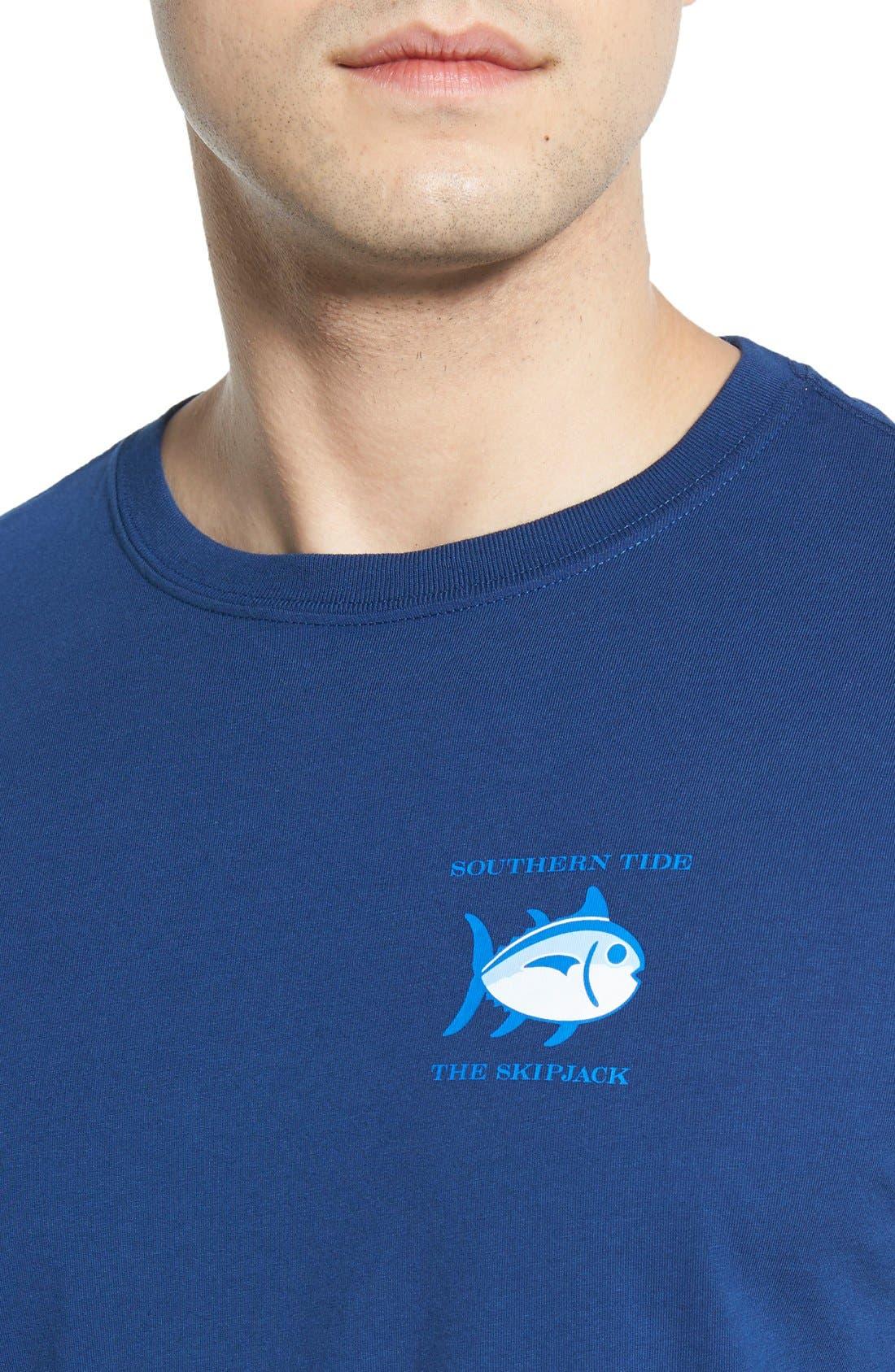 Alternate Image 4  - Southern Tide 'Skipjack'Long Sleeve Graphic T-Shirt