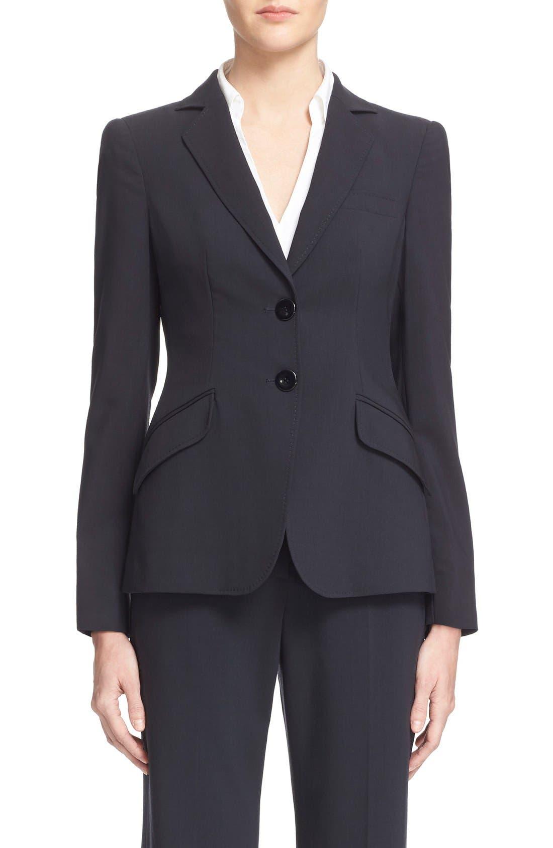Main Image - Armani Collezioni Two-Button Featherweight Wool Jacket