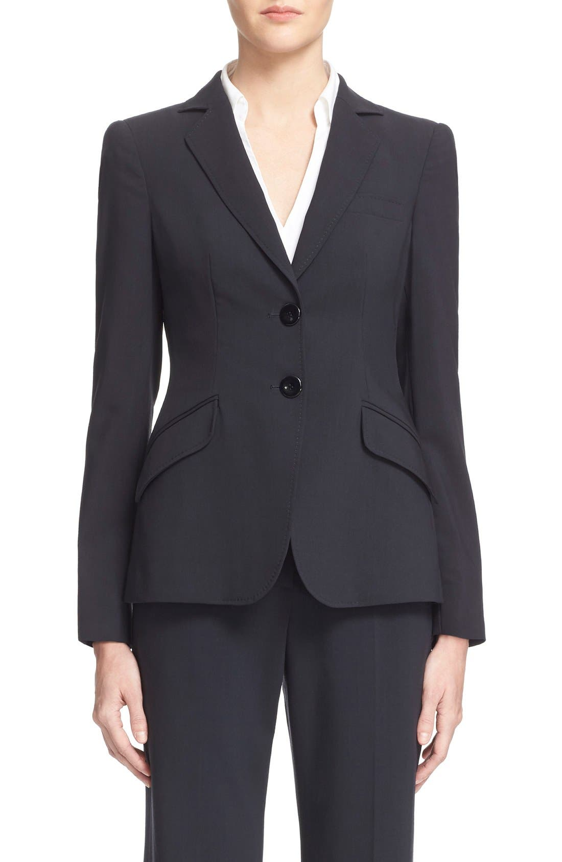 Armani Collezioni Two-Button Featherweight Wool Jacket