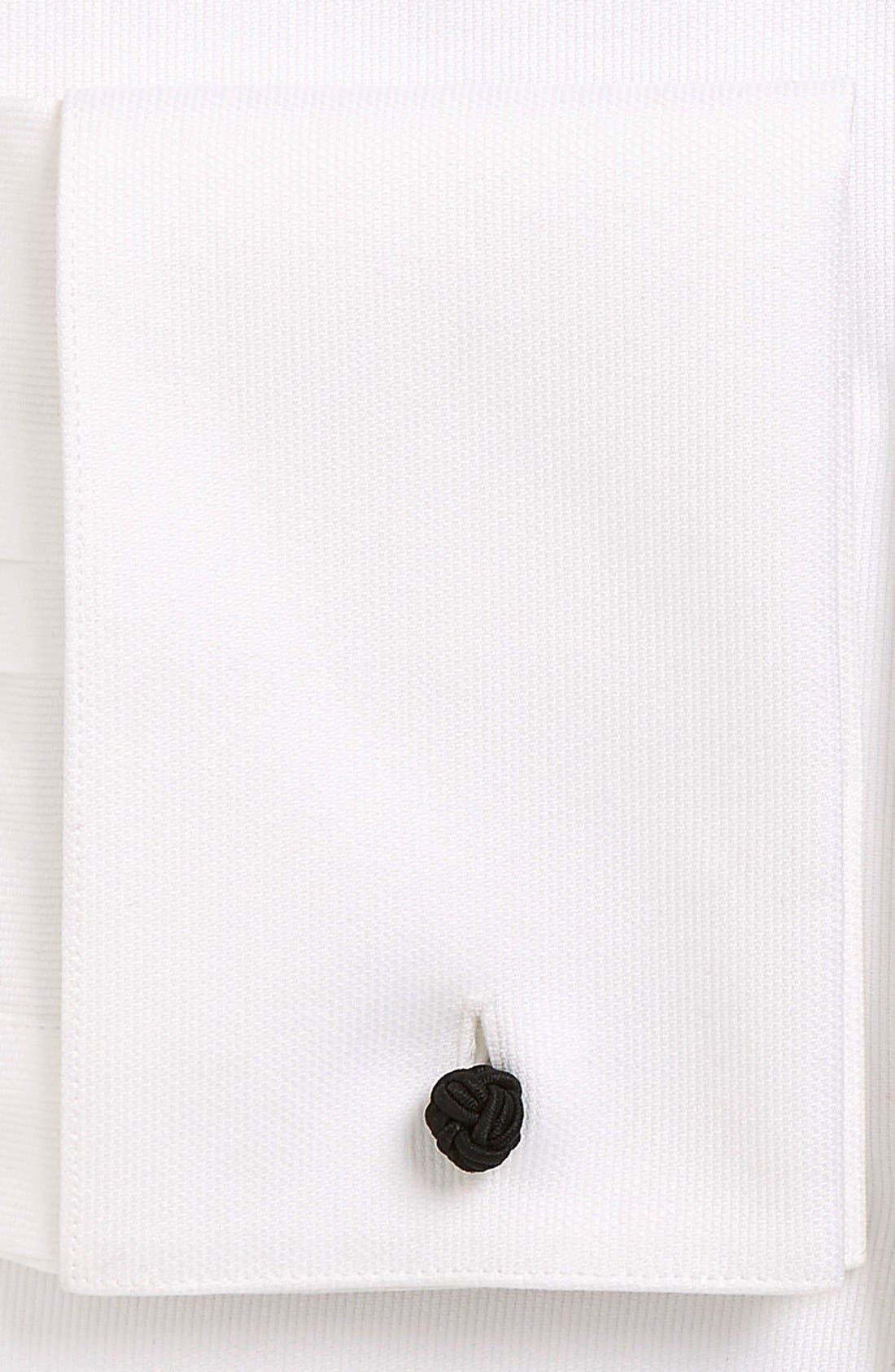 Alternate Image 2  - Strong Suit 'Pique' Trim Fit Tuxedo Shirt
