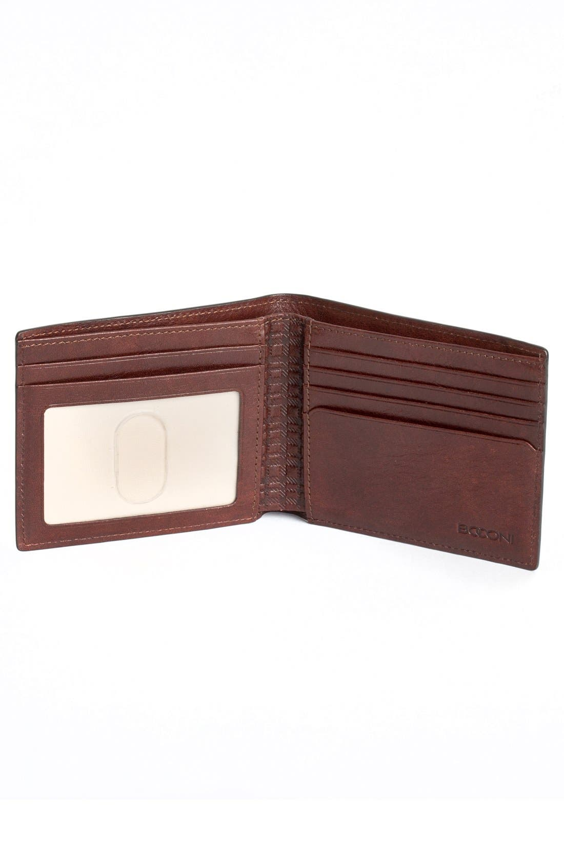 'Becker' Leather Wallet,                             Alternate thumbnail 2, color,                             Whiskey