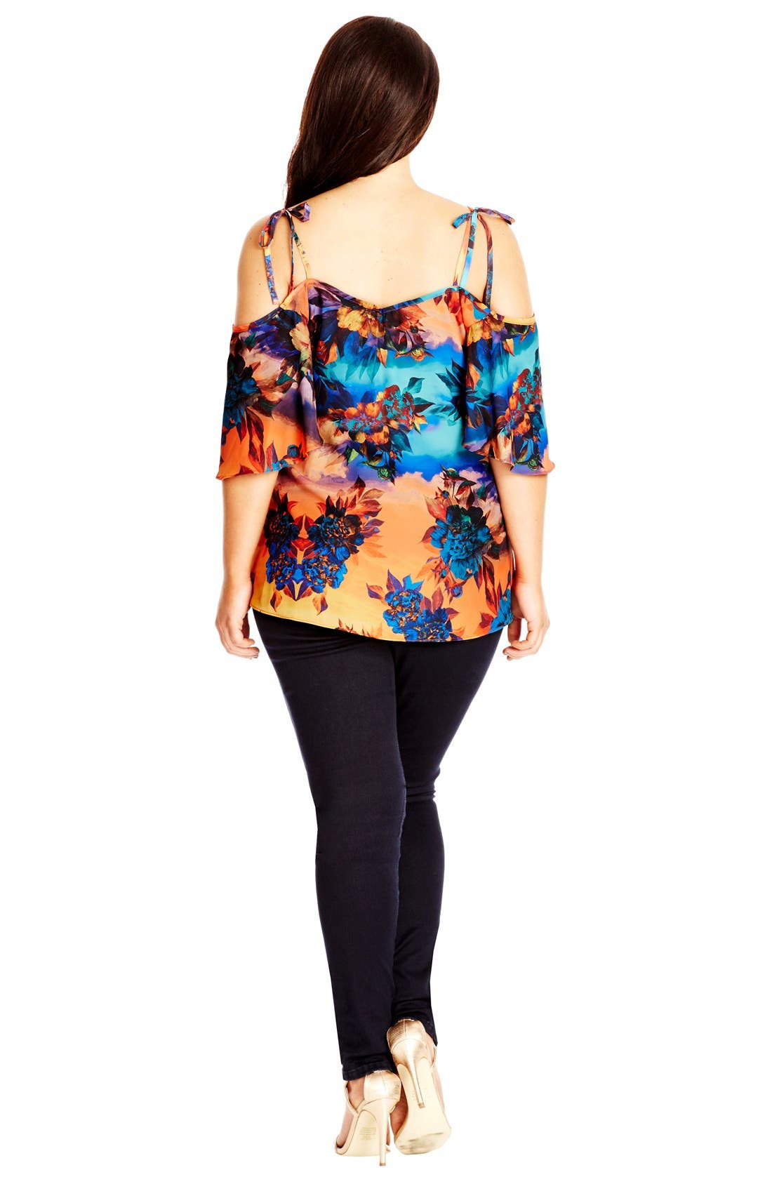 Alternate Image 2  - City Chic 'Summer Nights' Off the Shoulder Top (Plus Size)