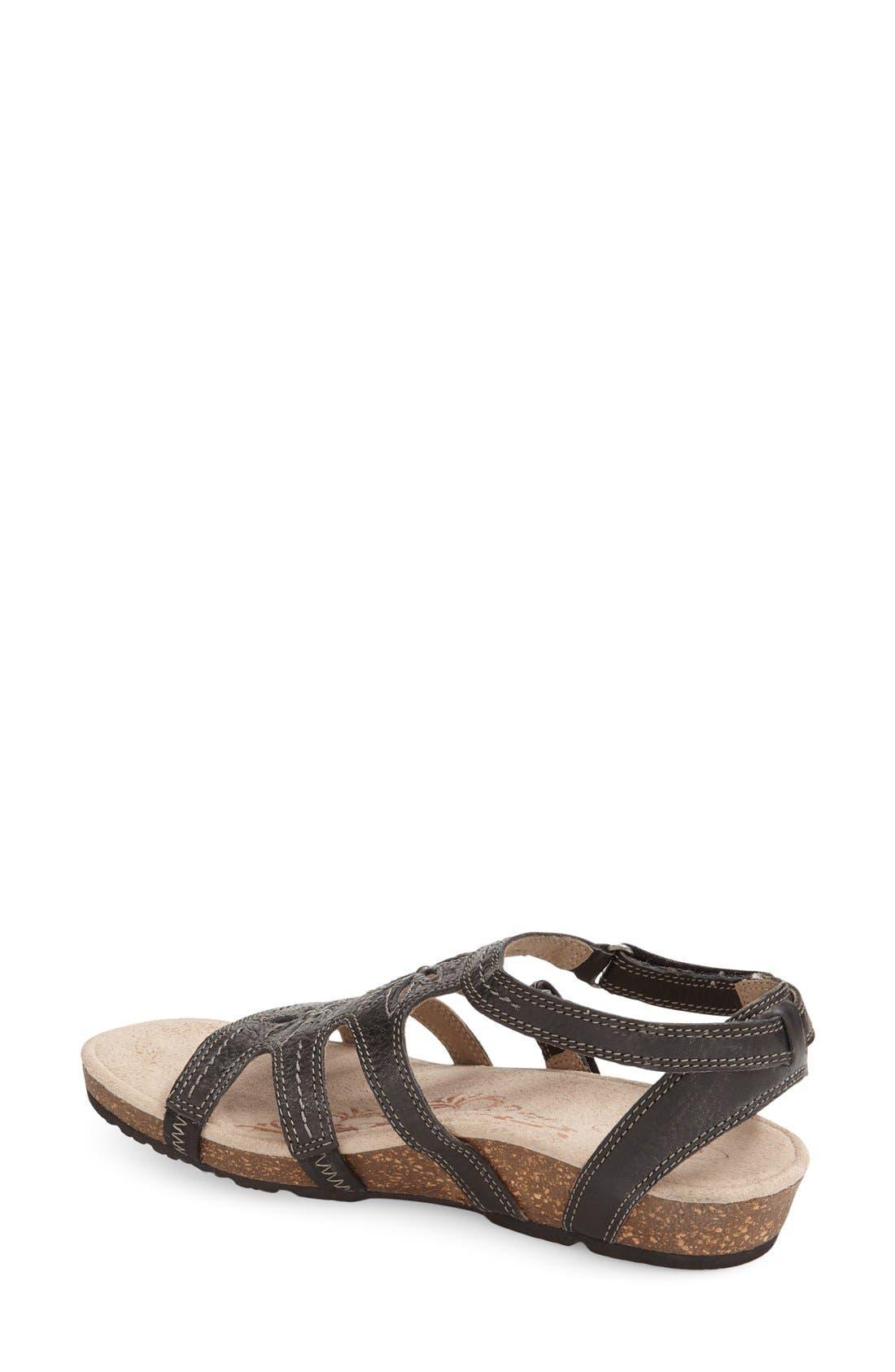 'Natasha' Gladiator Sandal,                             Alternate thumbnail 2, color,                             Black Leather
