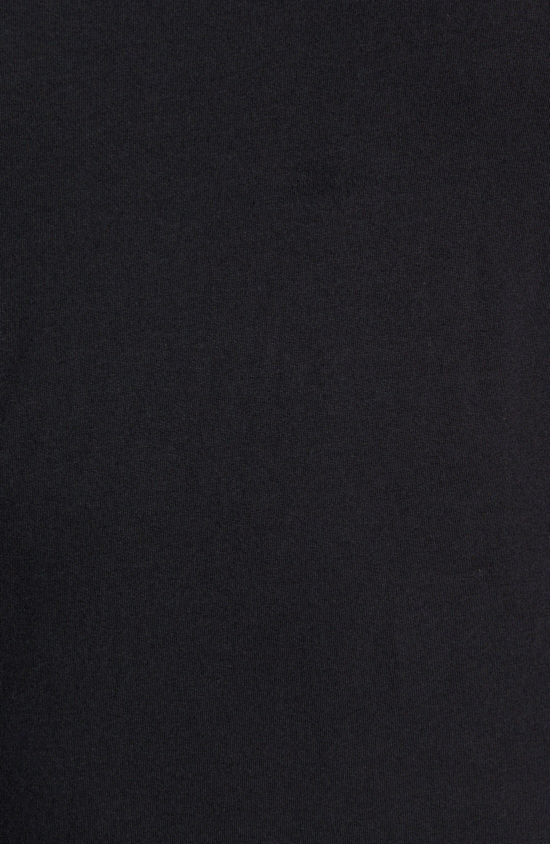 'Flintlock' Longline Crewneck T-Shirt,                             Alternate thumbnail 5, color,                             Black
