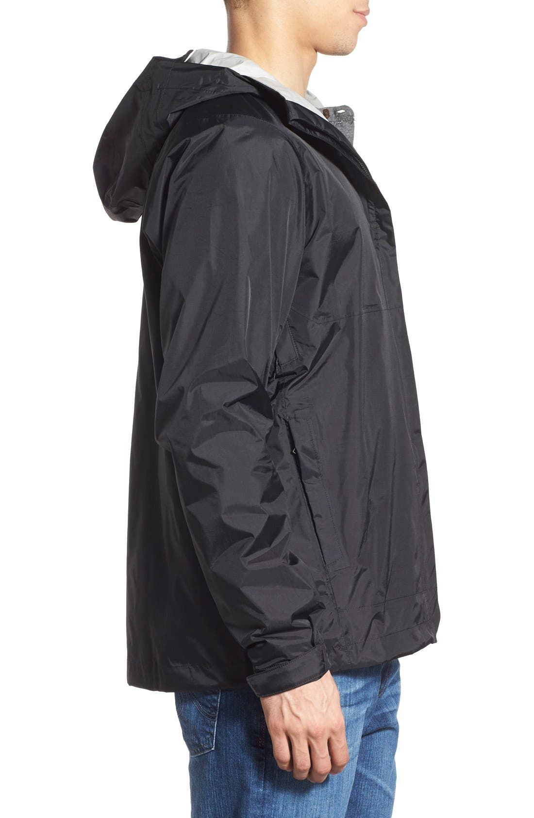 'Torrentshell' Packable Rain Jacket,                             Alternate thumbnail 3, color,                             Black