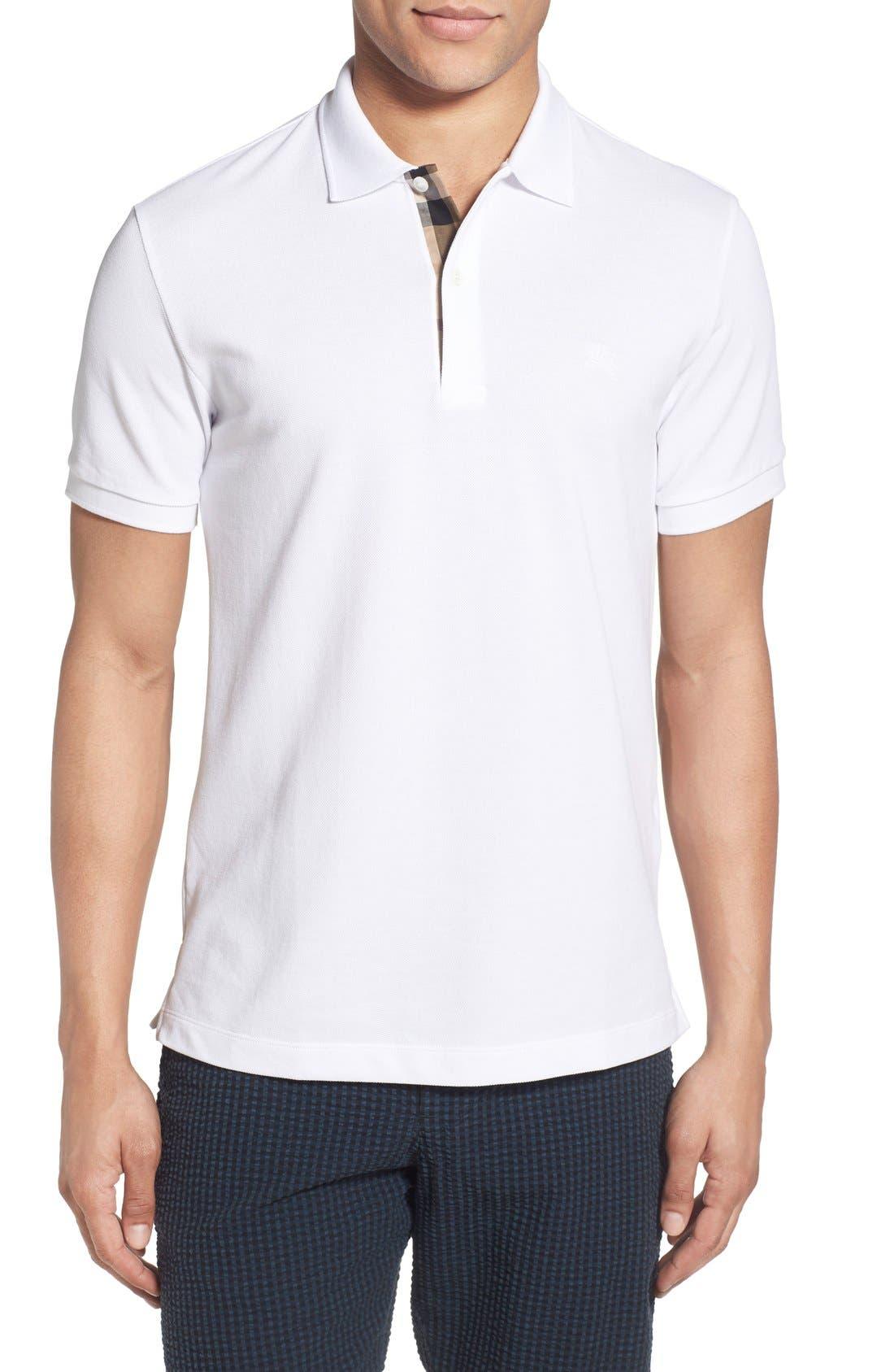 Piqué Polo,                         Main,                         color, White