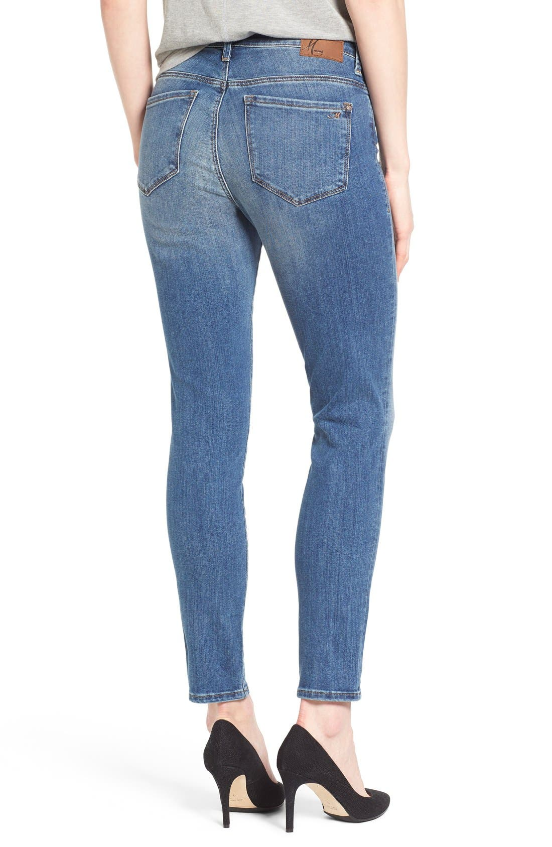 'Alissa' Stretch Slim Ankle Jeans,                             Alternate thumbnail 2, color,                             Light Blue