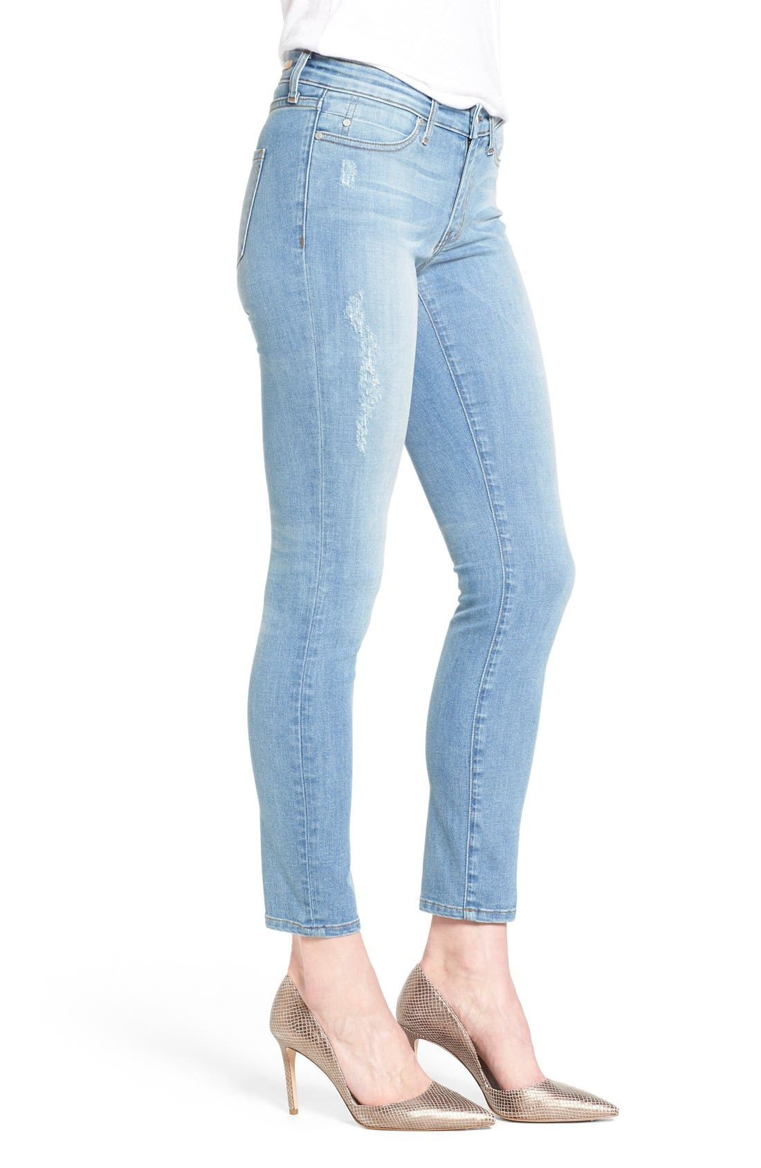 Alternate Image 3  - Mavi Jeans 'Adriana' Distressed Stretch Skinny Ankle Jeans