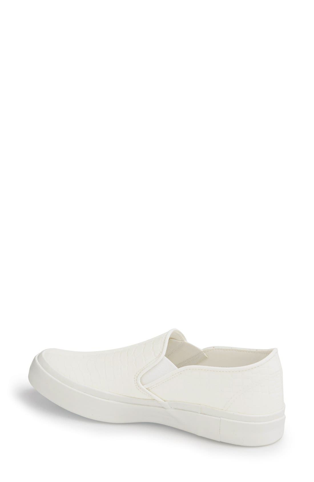 Slip-On Sneaker,                             Alternate thumbnail 2, color,                             White