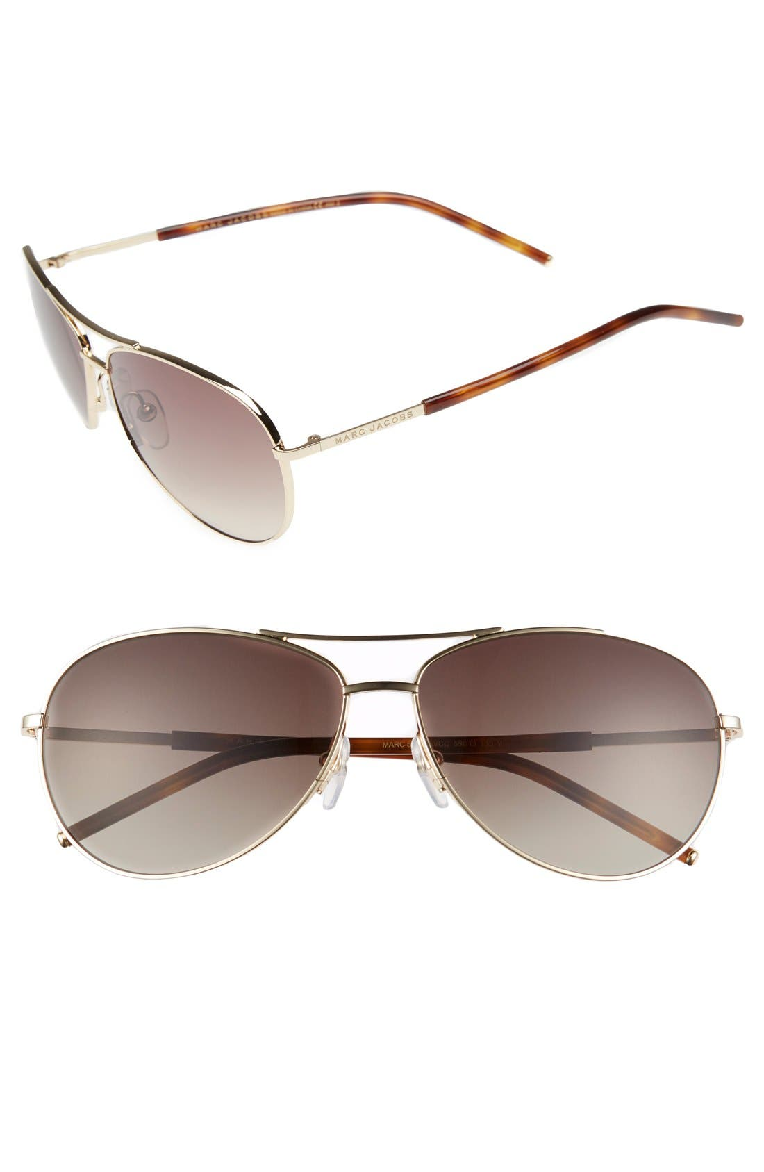 Alternate Image 1 Selected - MARC JACOBS 59mm Aviator Sunglasses