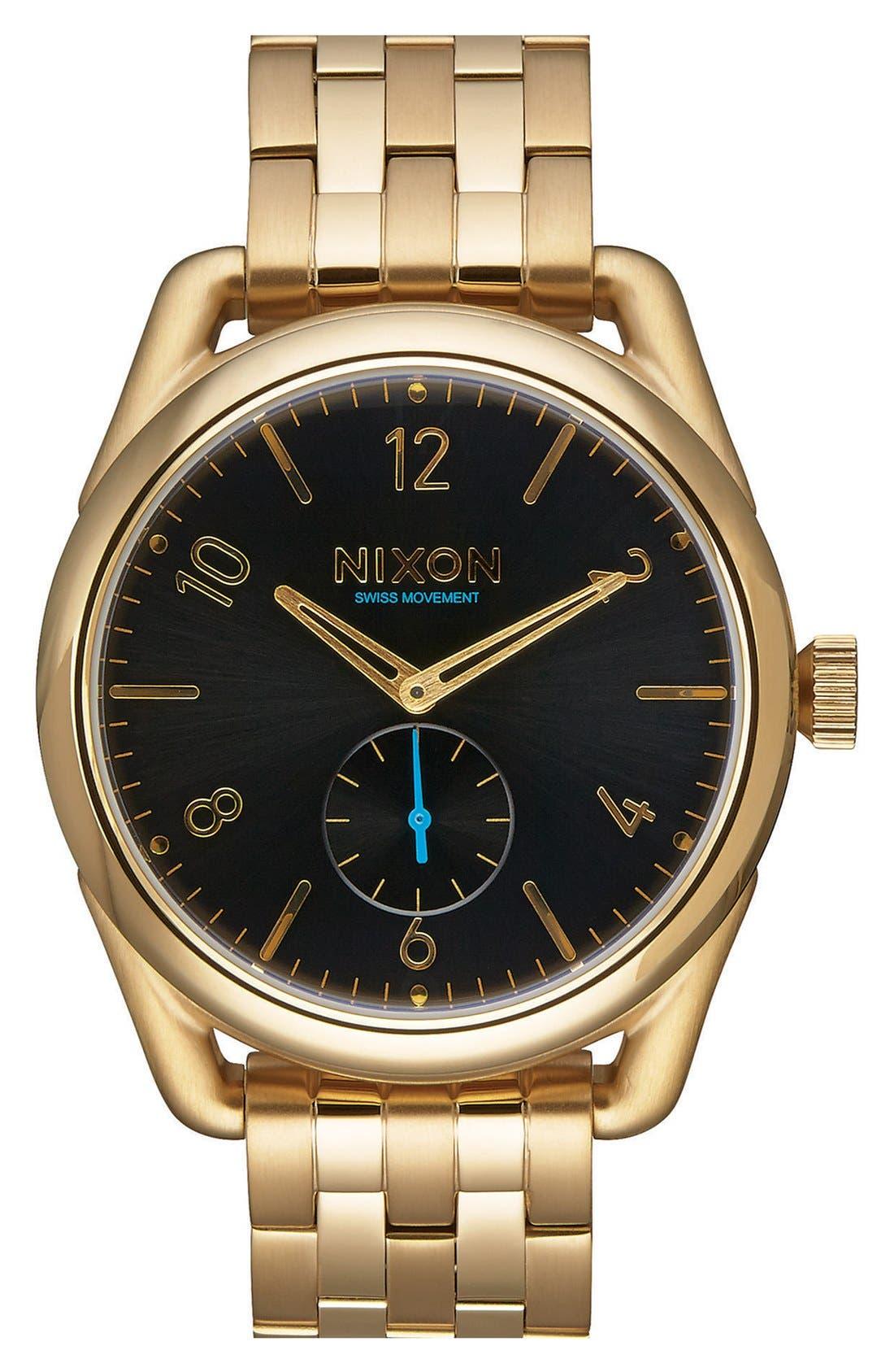 'C39' Bracelet Watch, 39mm,                             Main thumbnail 1, color,                             Gold/ Black