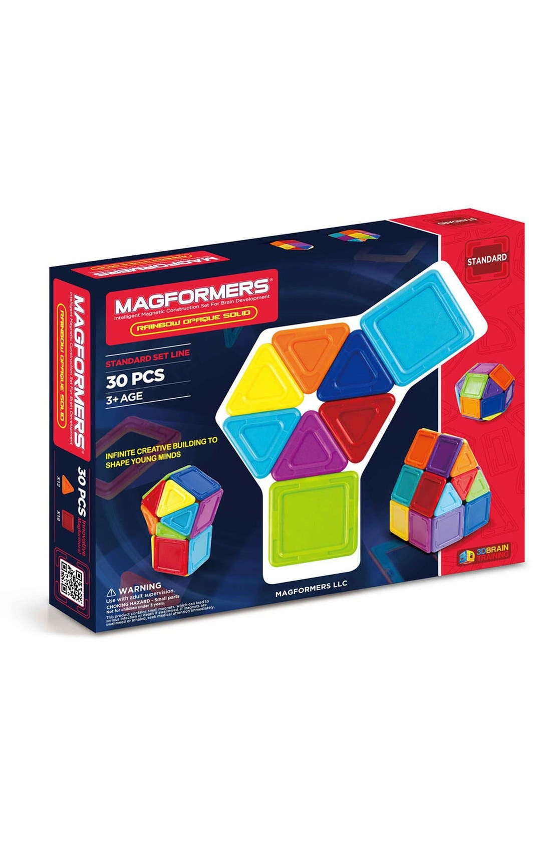 'Standard - Solids' Opaque Magnetic 3D Construction Set,                         Main,                         color, Opaque Rainbow