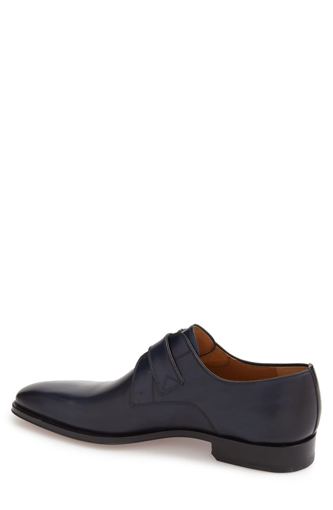 Marco Monk Strap Loafer,                             Alternate thumbnail 2, color,                             Navy Leather