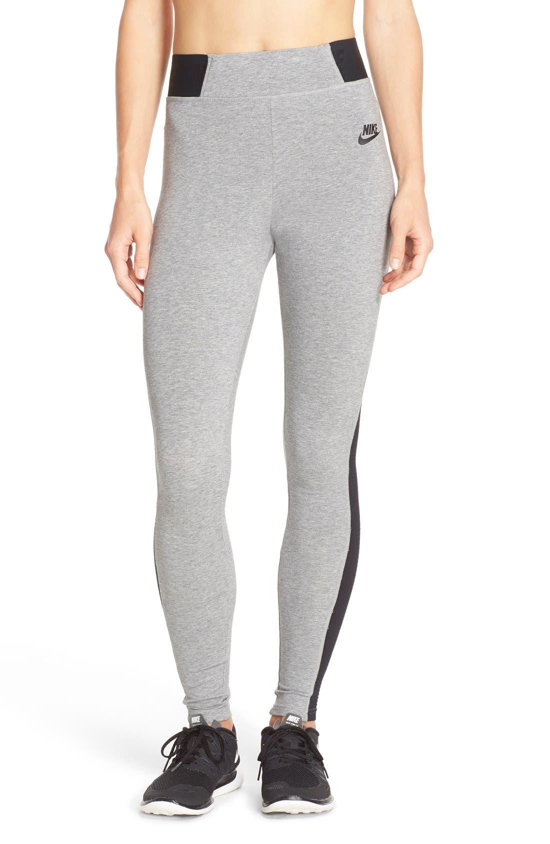 Alternate Image 1 Selected - Nike 'Burnout' Mesh Inset Leggings