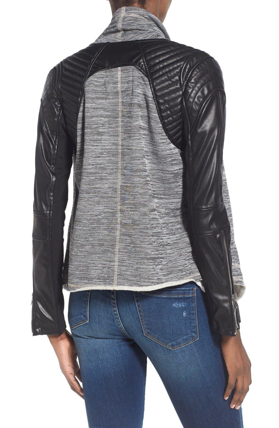 Alternate Image 2  - BLANKNYC 'Dating & Waiting' Drape Front Jacket