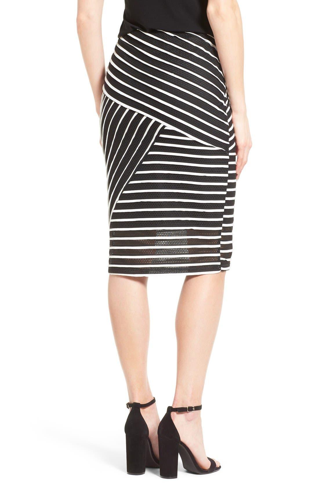 Alternate Image 2  - Bobeau Stripe Mesh Tube Skirt