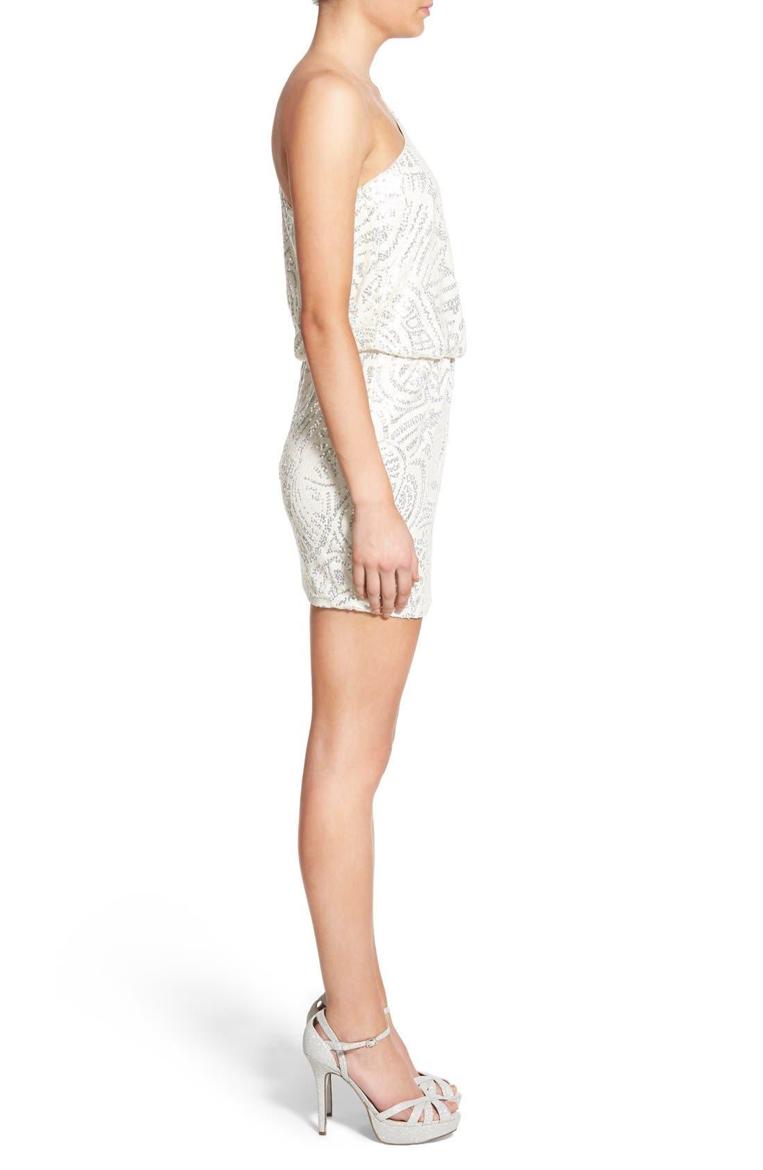 Alternate Image 3  - Secret Charm Embellished One-Shoulder Minidress