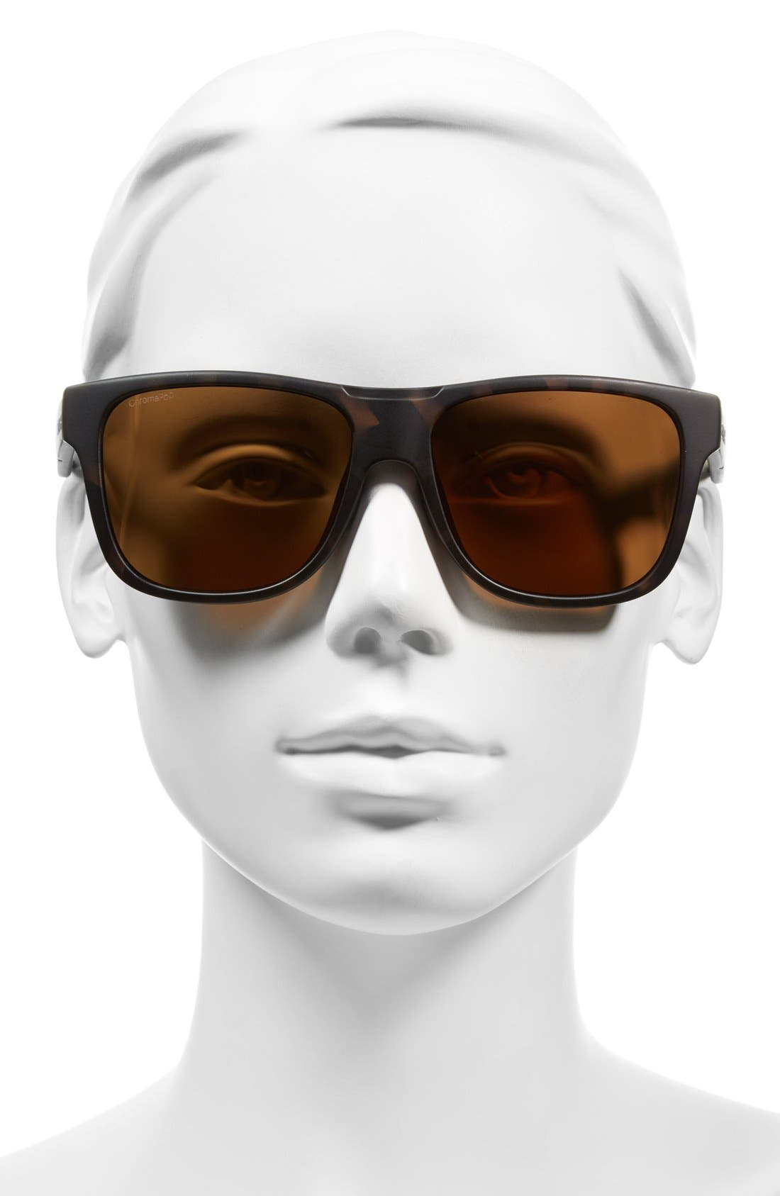 'Lowdown XL' 58mm Polarized Sunglasses,                             Alternate thumbnail 2, color,                             Matte Tortoise/ Polar Brown