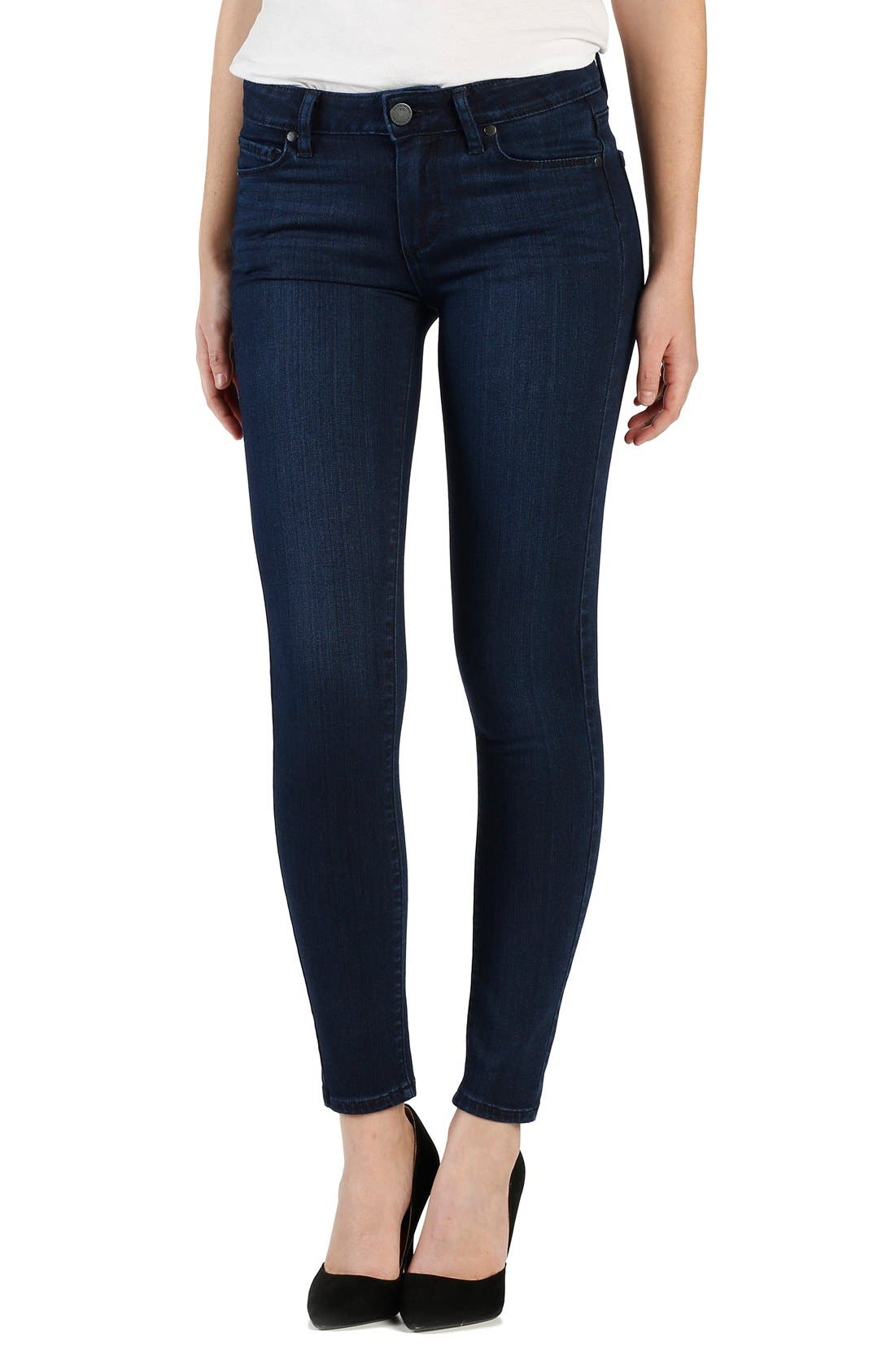 Alternate Image 1 Selected - PAIGE 'Transcend - Verdugo' Ultra Skinny Ankle Jeans (Holly)