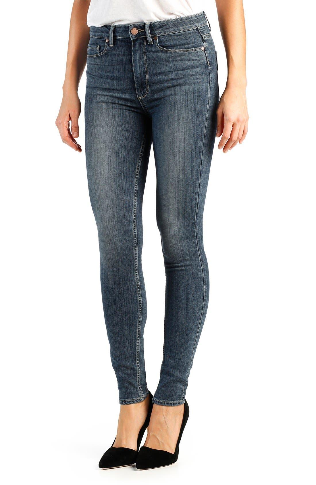 Alternate Image 1 Selected - Paige Denim 'Transcend - Margot' High Rise Ultra Skinny Jeans (Atlas)
