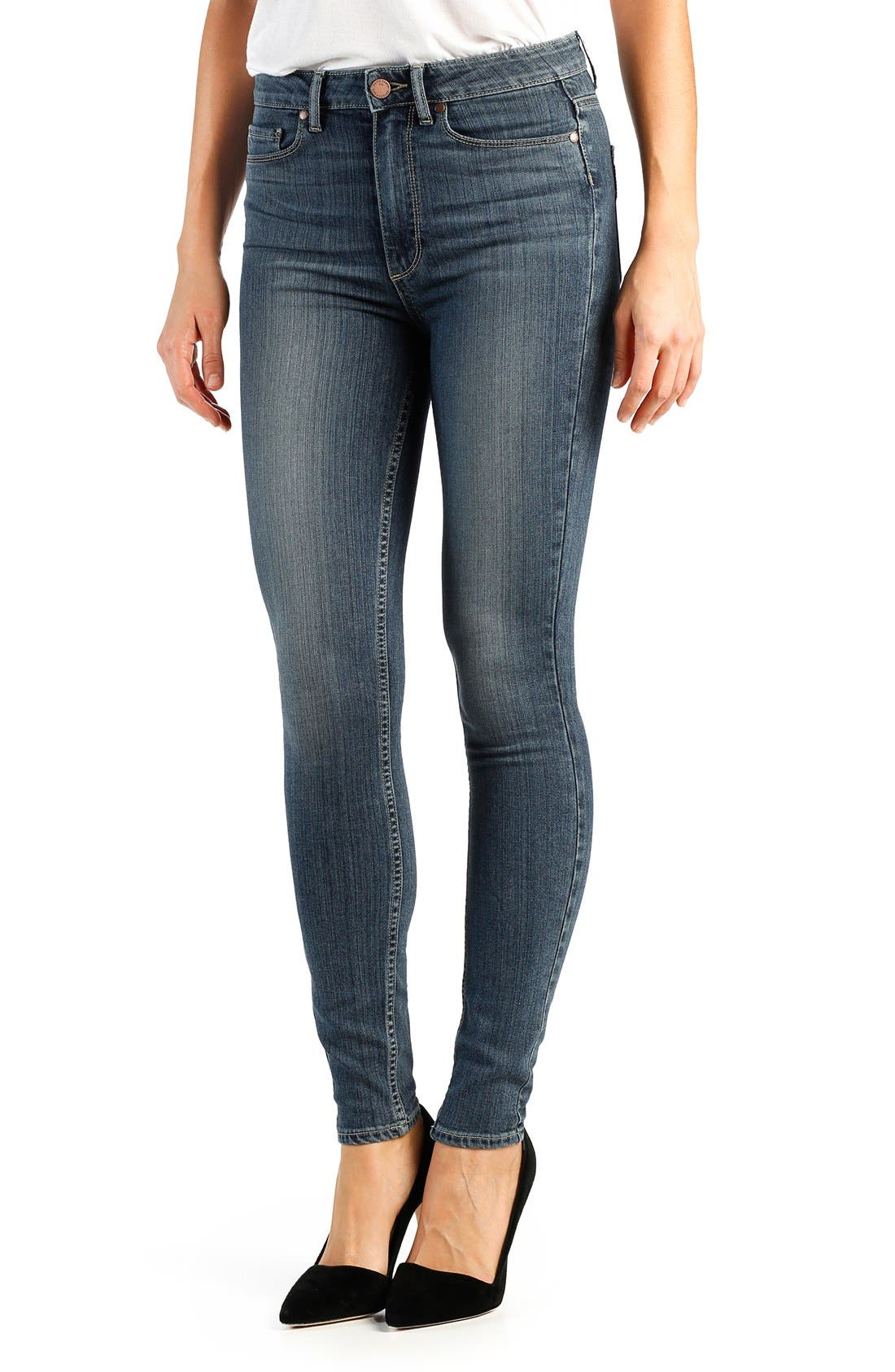 Main Image - Paige Denim 'Transcend - Margot' High Rise Ultra Skinny Jeans (Atlas)