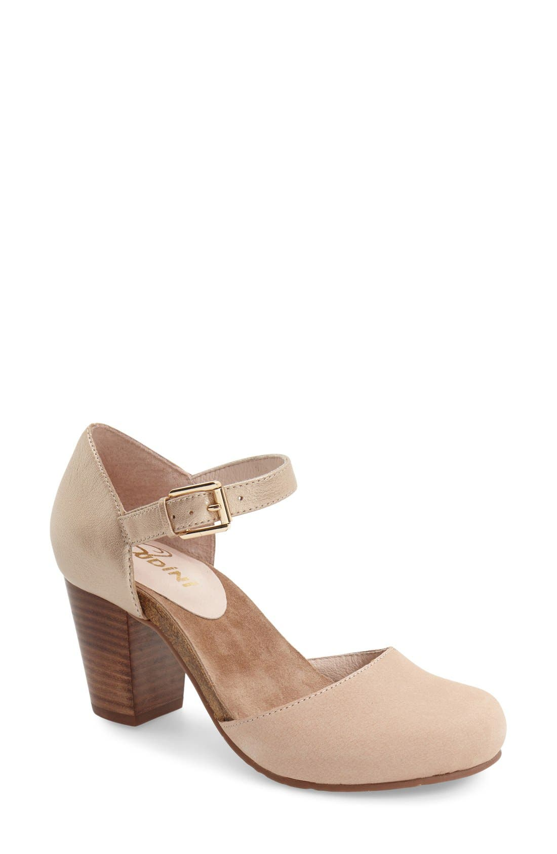 'Cam' Mary Jane Pump,                         Main,                         color, Sand Leather