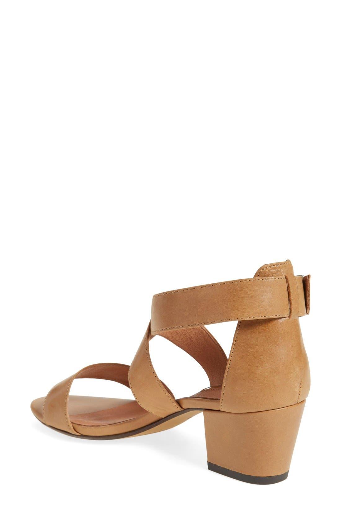 Halogen 'Rena' Crisscross Strap Sandal,                             Alternate thumbnail 2, color,                             Cognac