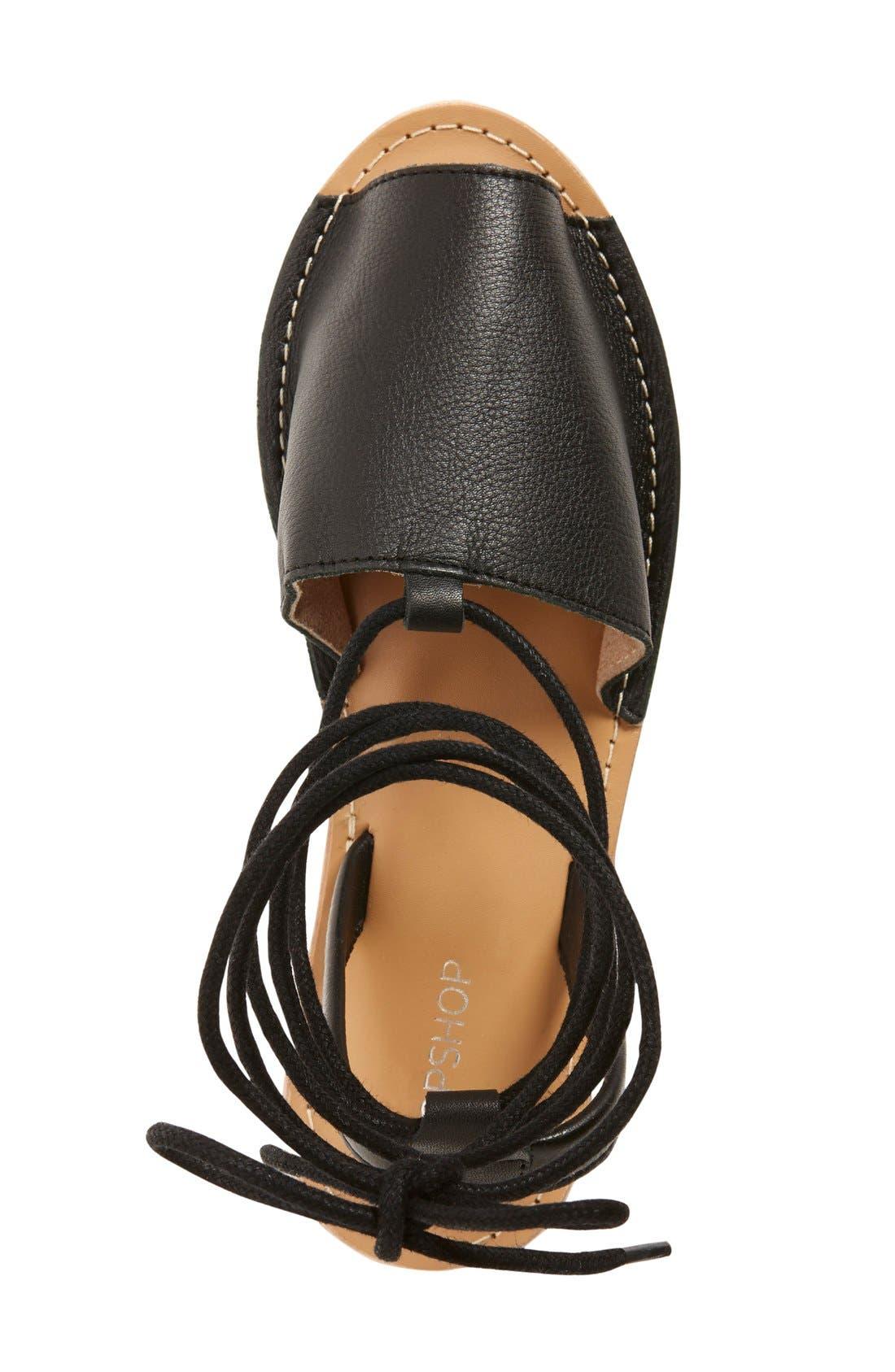 Alternate Image 3  - Topshop 'Holly' Lace-Up Sandal (Women)