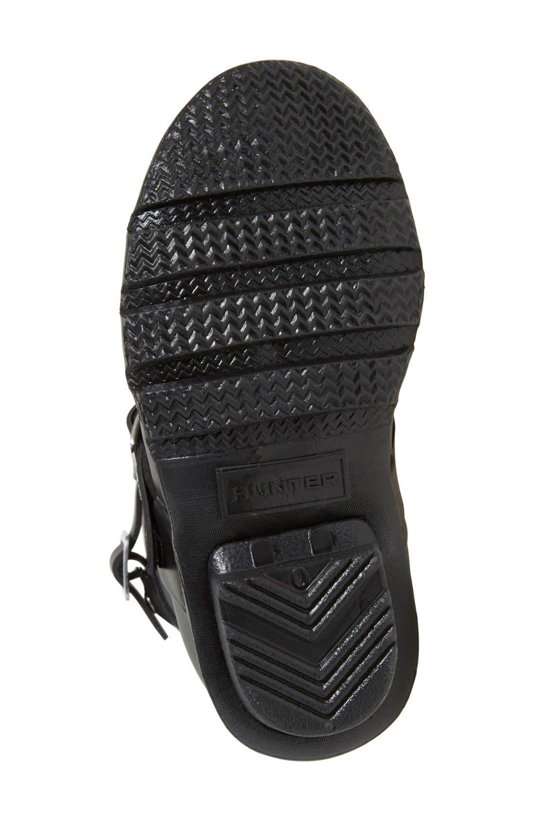 'Original Biker' Waterproof Rain Boot,                             Alternate thumbnail 4, color,                             Black