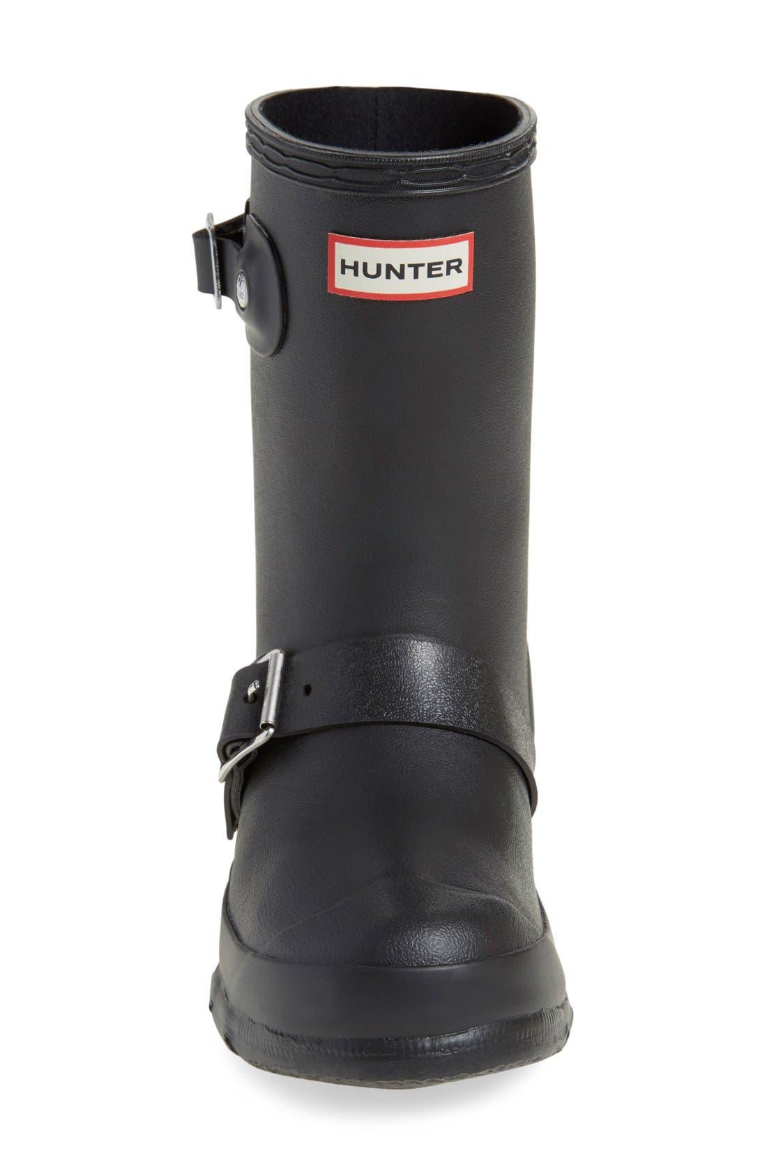 'Original Biker' Waterproof Rain Boot,                             Alternate thumbnail 3, color,                             Black