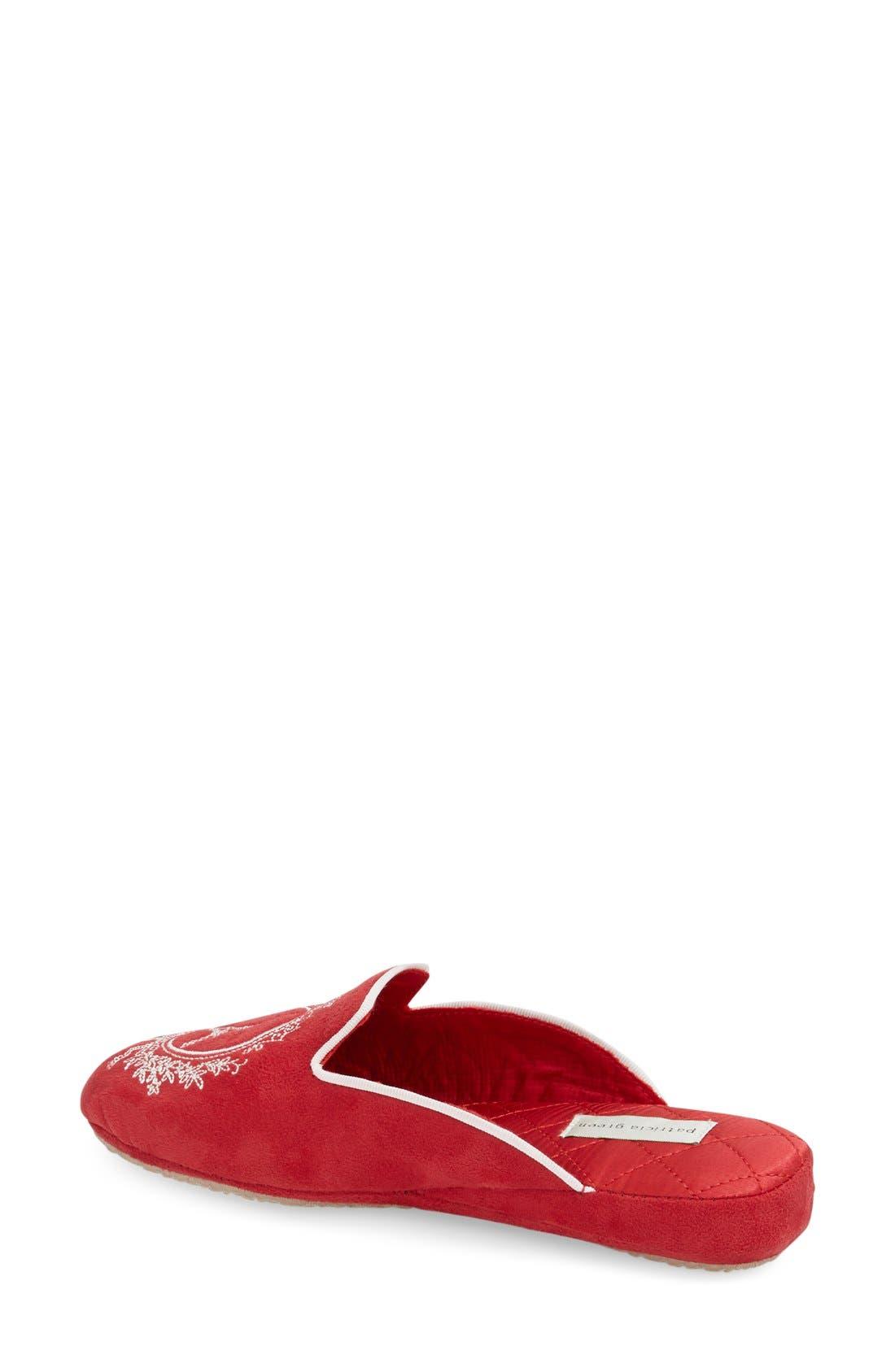 'Paris' Slipper,                             Alternate thumbnail 2, color,                             Red Suede