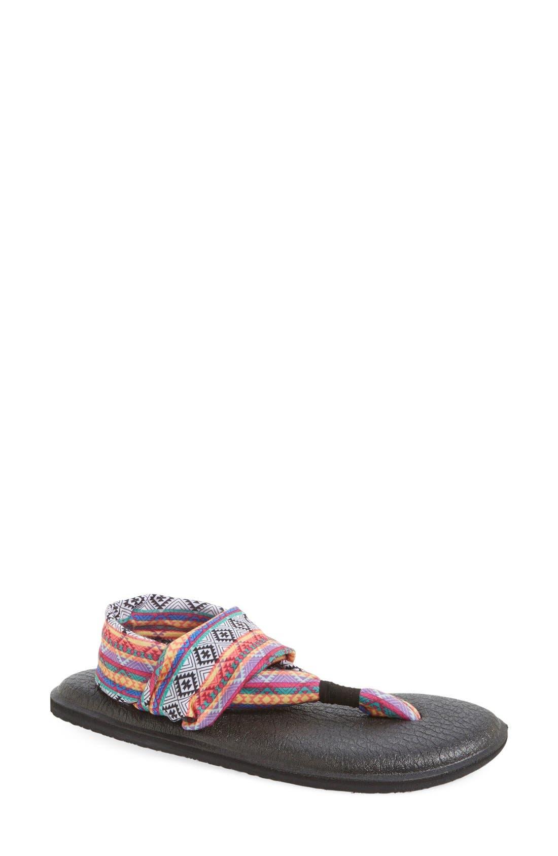 'Yoga Sling 2' Sandal,                         Main,                         color, Magenta/ Multi Tribal Stripe
