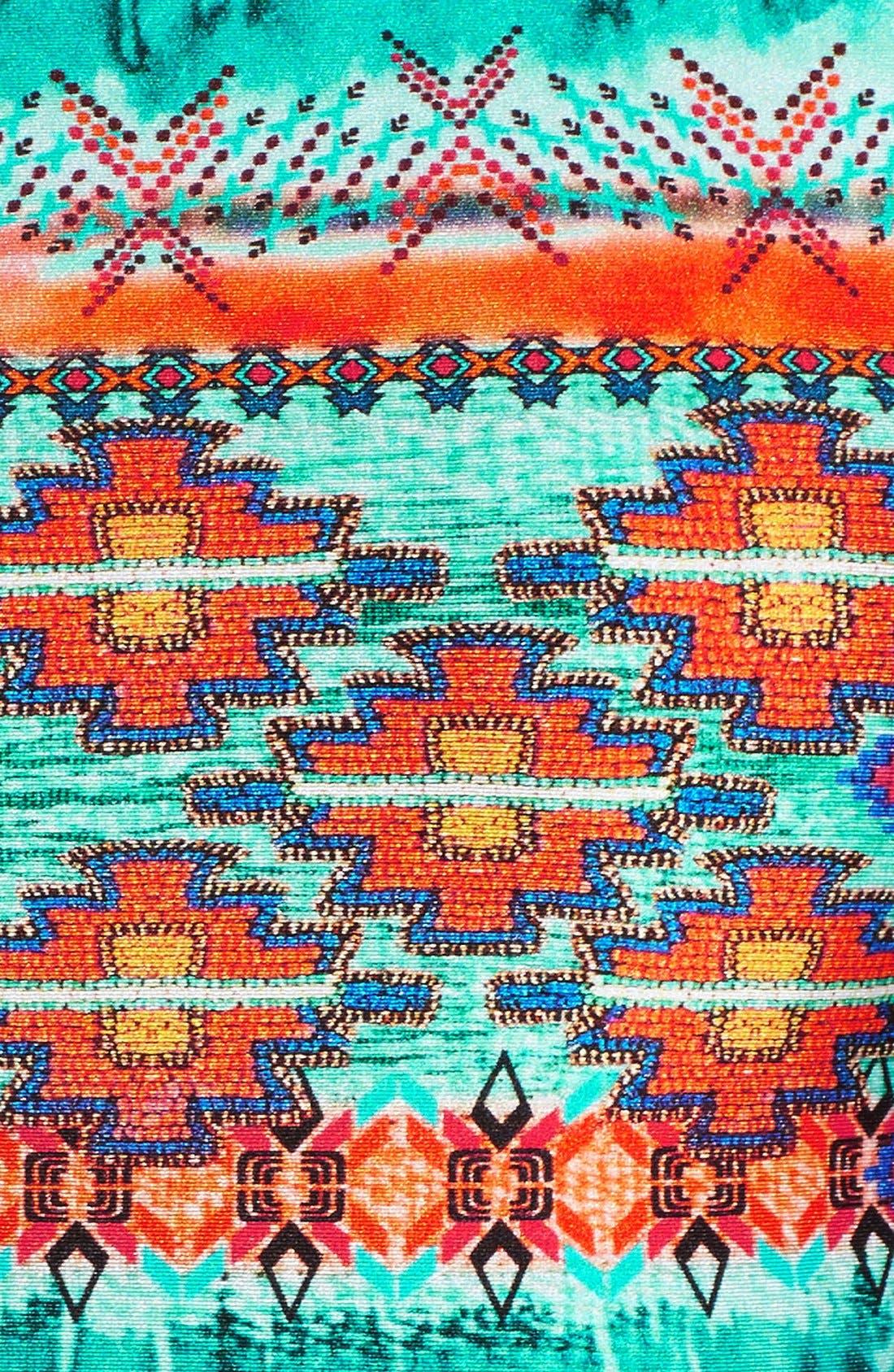 Alternate Image 5  - Luli Fama Fringed Long Sleeve Crop Top