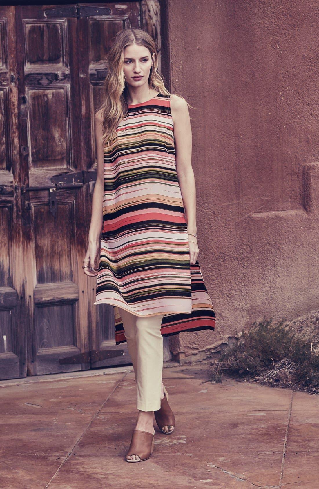 Alternate Image 6  - Vince Camuto Long High/Low Stripe Tunic (Regular & Petite)